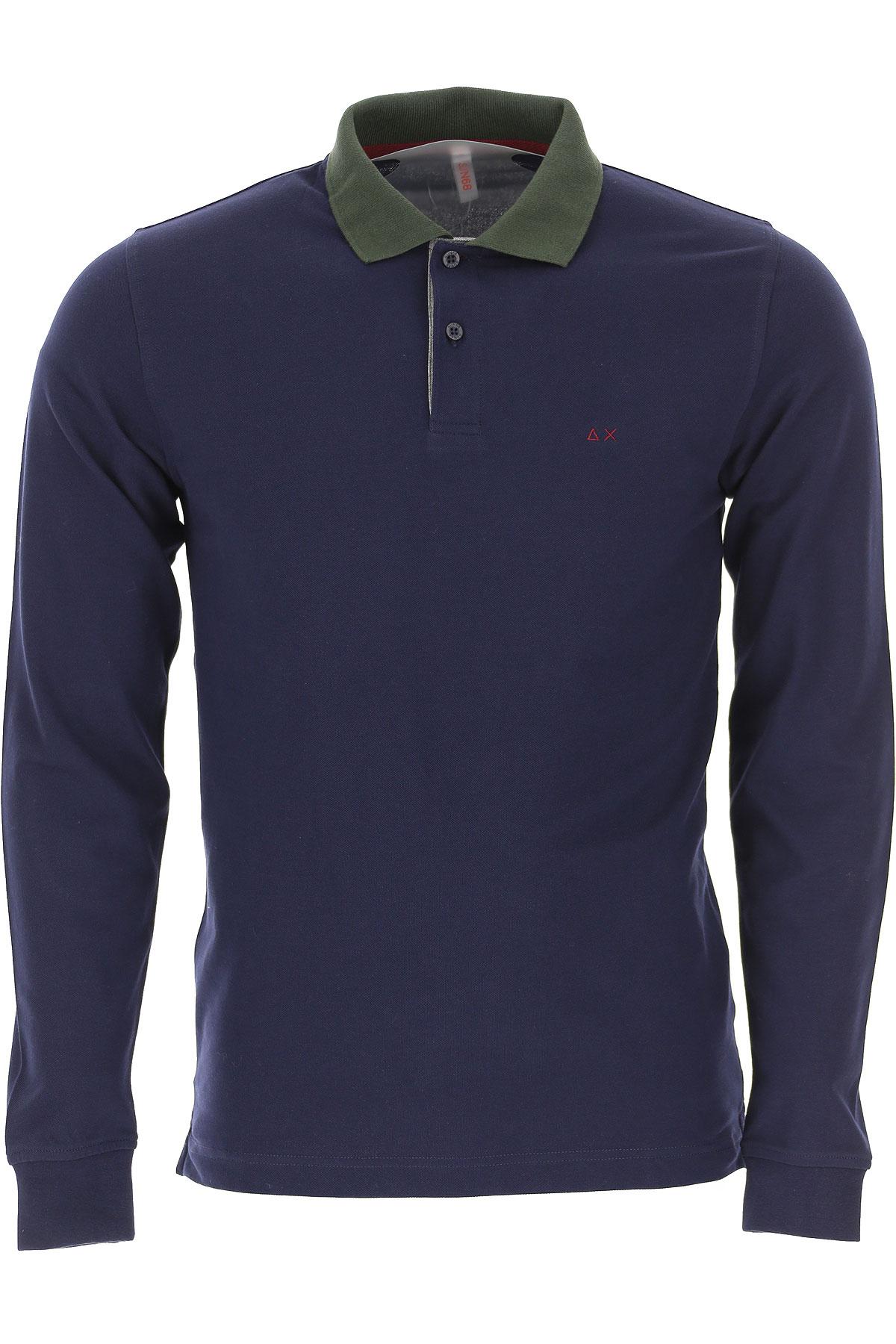 Sun68 Polo Shirt for Men On Sale, Navy Blue, Cotton, 2019, L M XL XXL