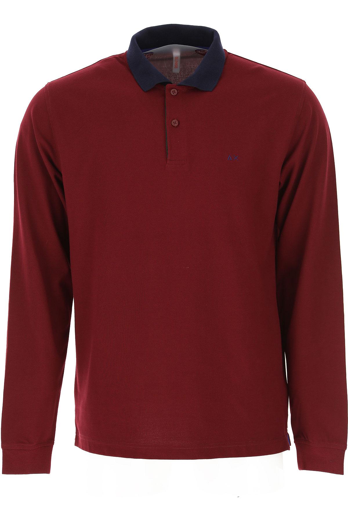 Sun68 Polo Shirt for Men On Sale, Bordeaux, Cotton, 2019, L M XL XXL