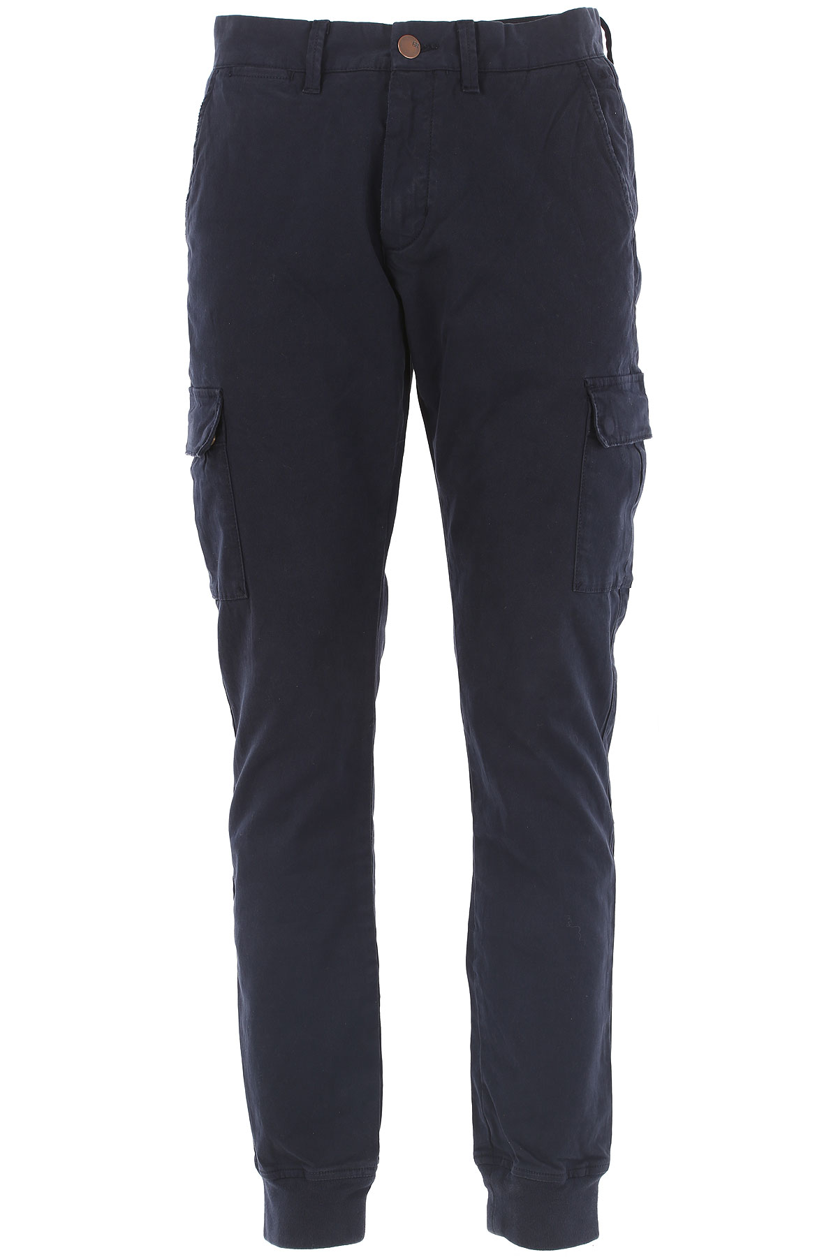 Sun68 Pantalon Homme, Military Cuff, Bleu marine, Coton, 2017, 48 49