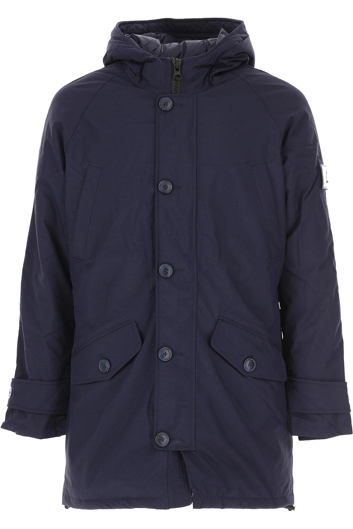 Sun68 Down Jacket for Men, Puffer Ski Jacket On Sale, Navy Blue, polyester, 2019, L M XL XXL