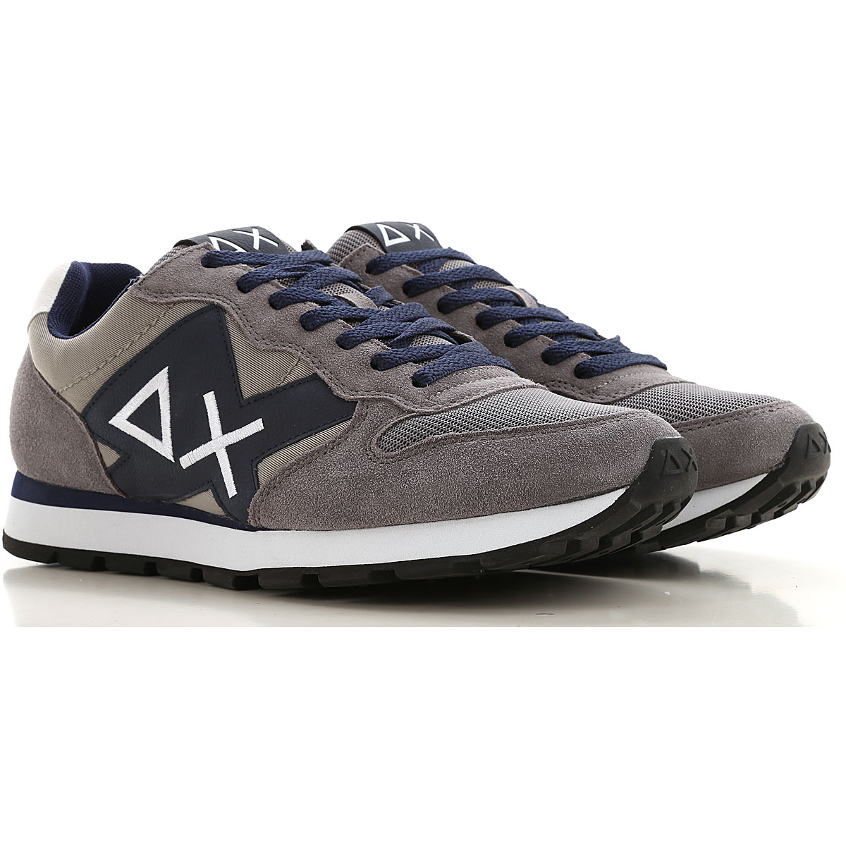 Sun68 Sneakers for Men On Sale, Grey, Suede leather, 2019, 10 10.5 11.5 7.5 8