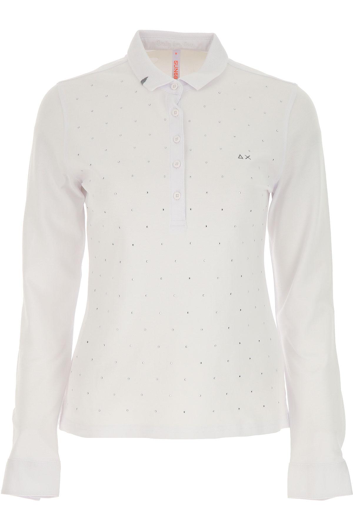 Sun68 Polo Shirt for Women On Sale, White, Cotton, 2019, 4 6 8