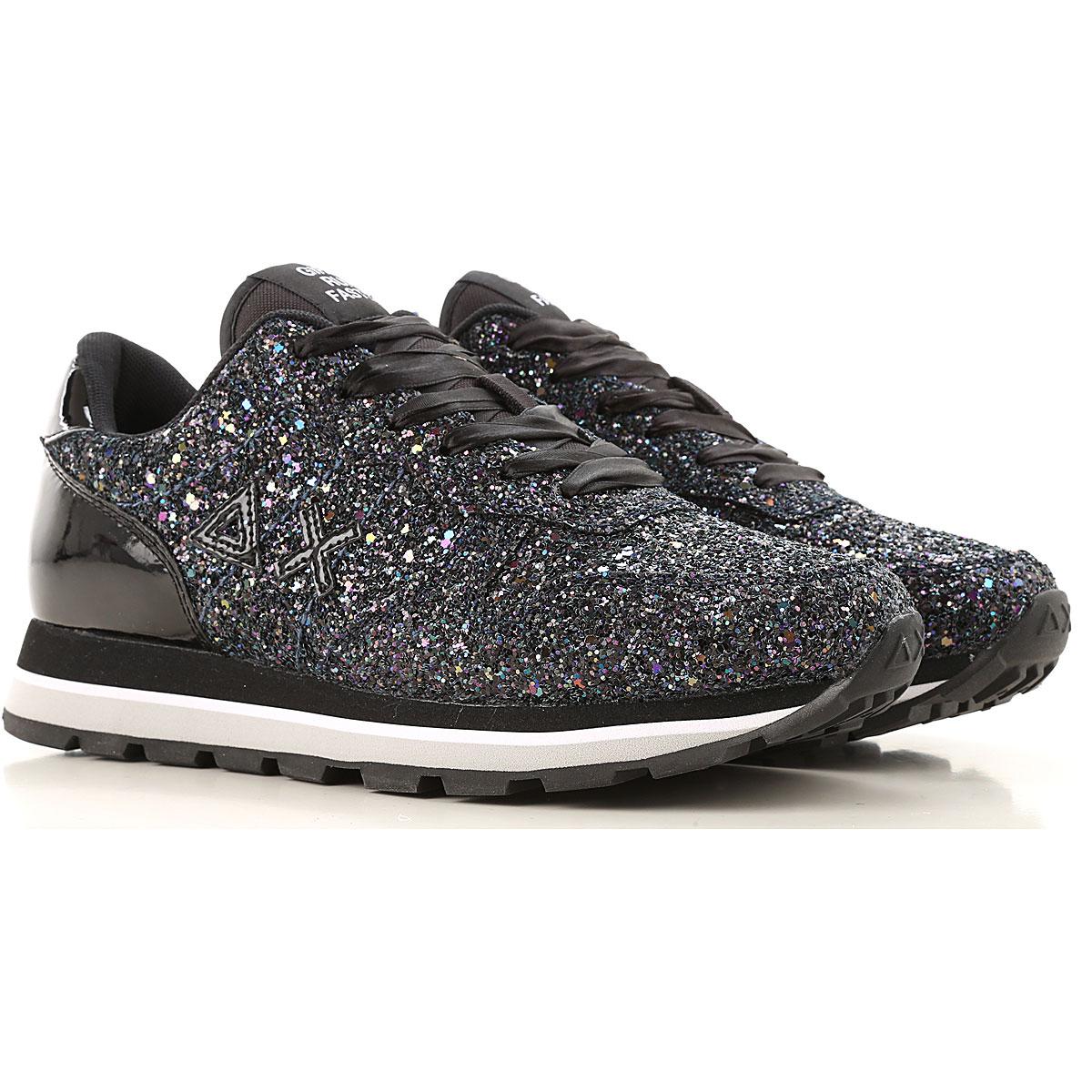 Sun68 Sneakers for Women On Sale, Black, Fabric, 2019, 5 7 9