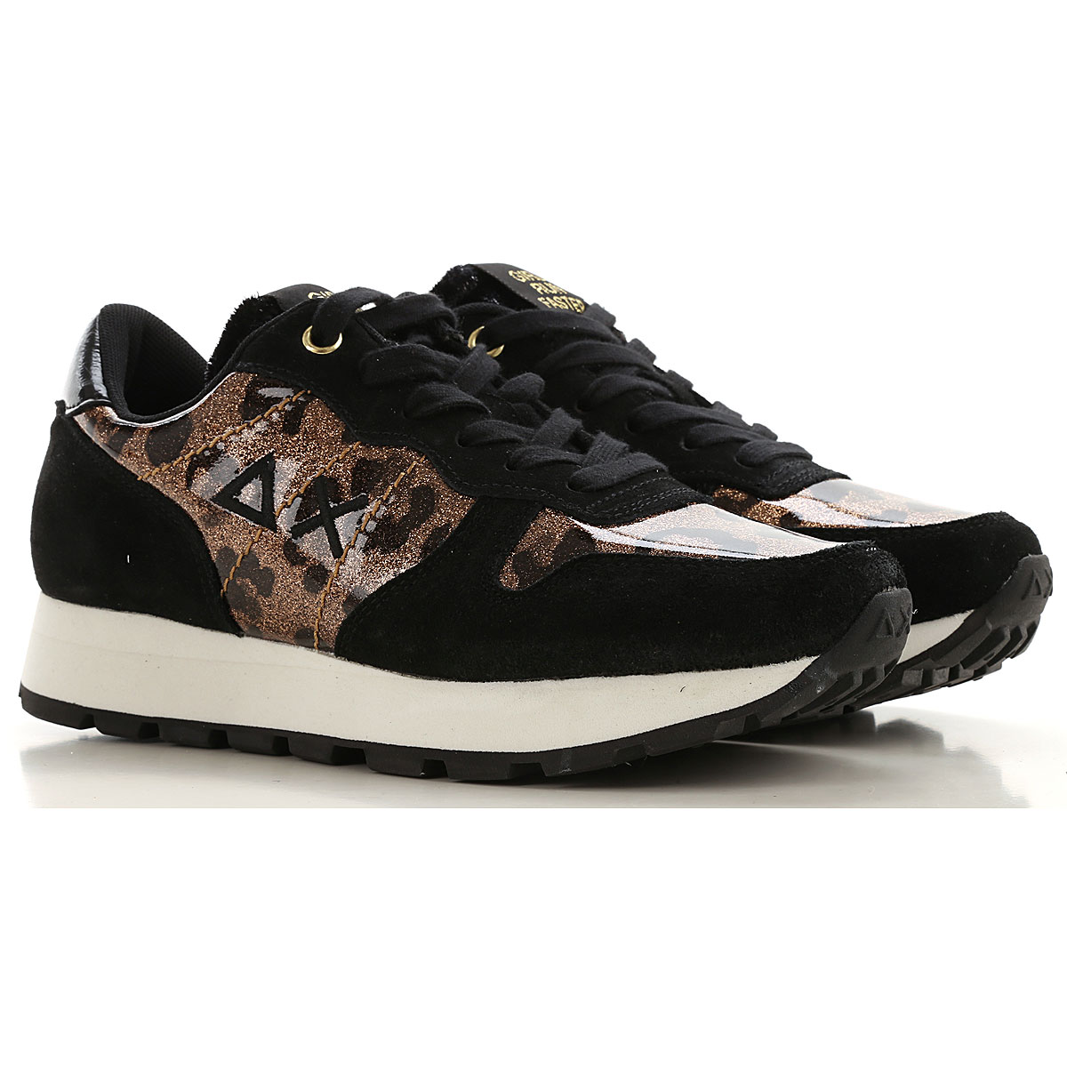 Sun68 Sneakers for Women On Sale, Black, Leather, 2019, 10 5 6 7 9