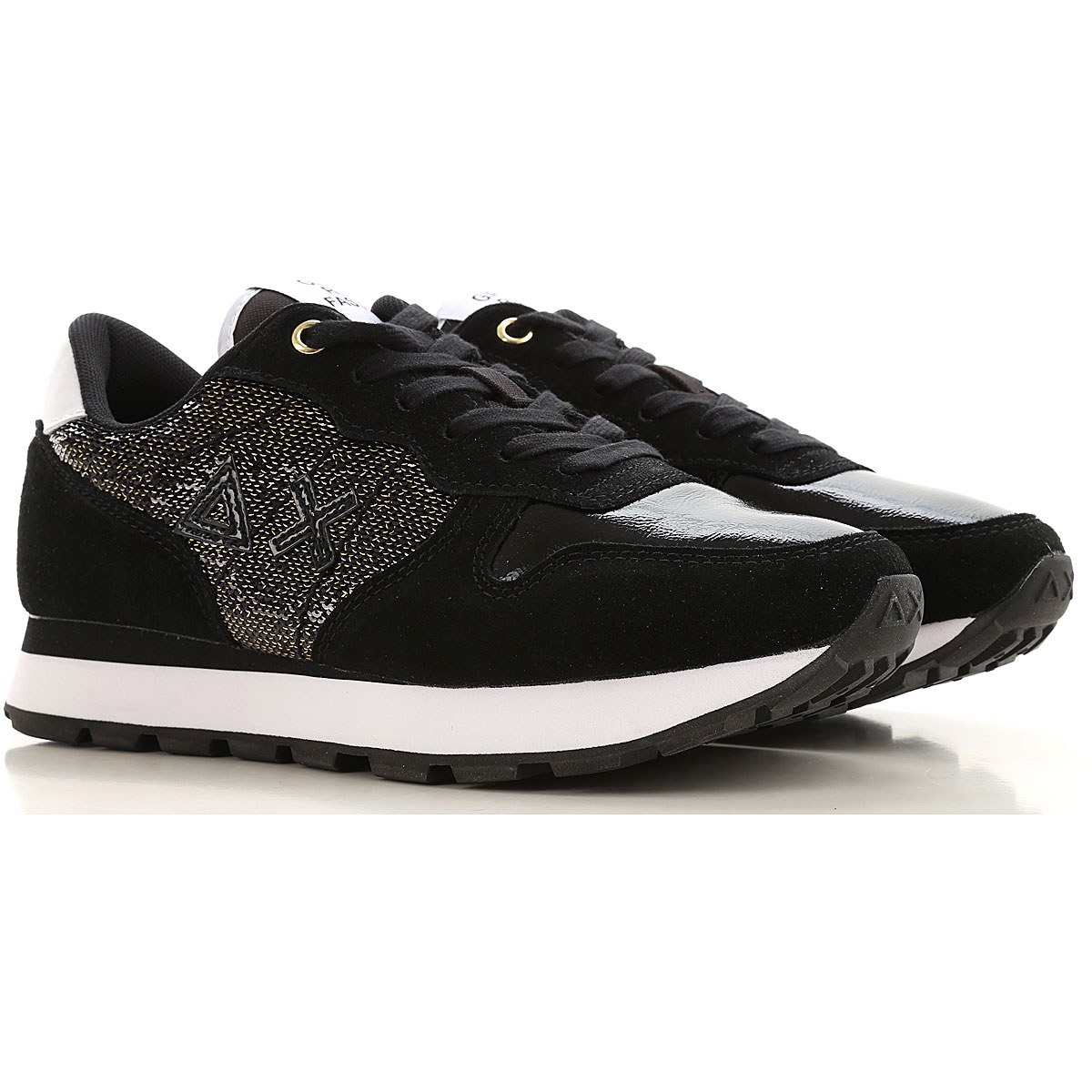 Sun68 Sneakers for Women On Sale, Black, Leather, 2019, 10 8 9