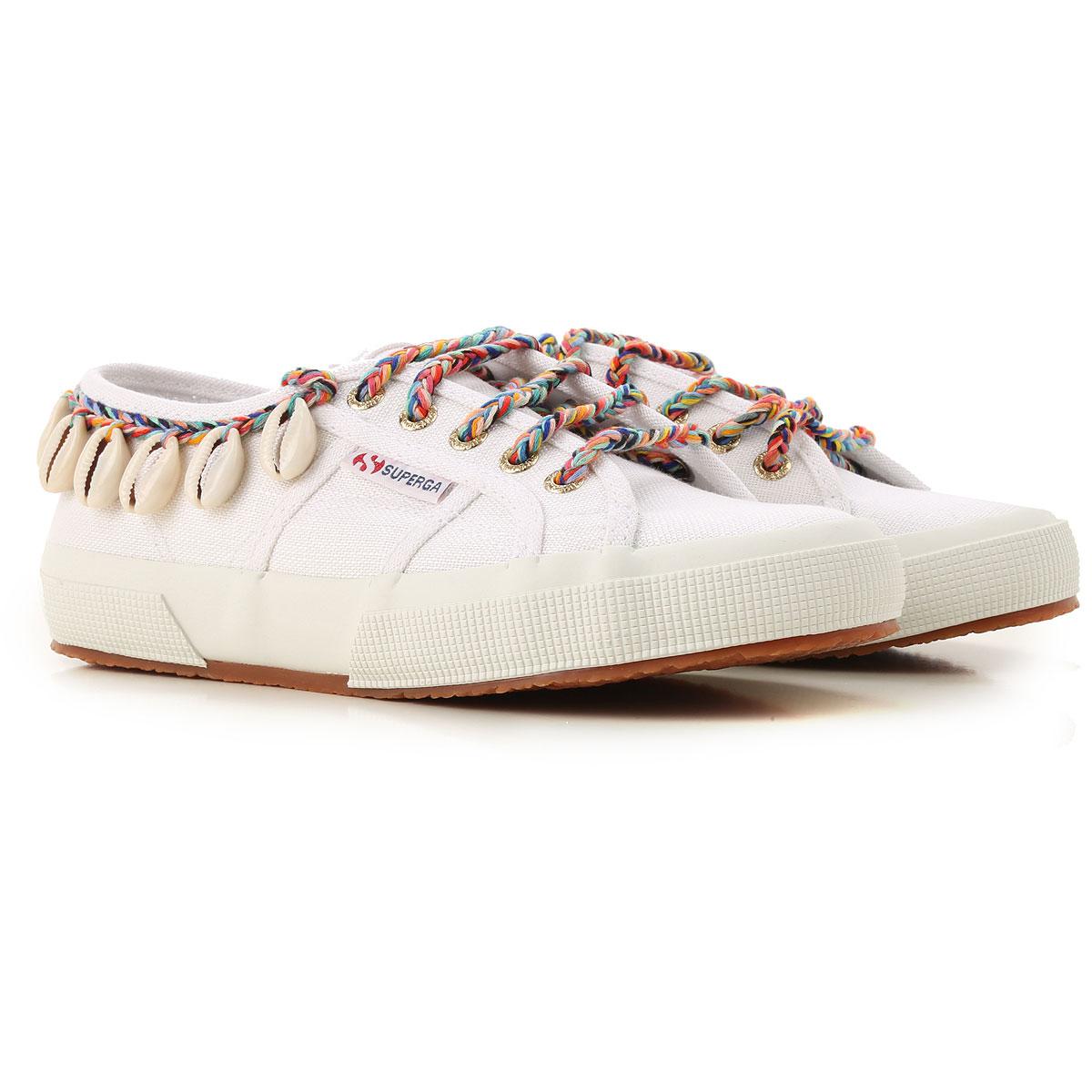 Superga Sneakers for Women On Sale, Superga X Alanui, White, Canvas, 2019, ITA 41 - USA 10.5 - UK 8 ITA 40 - USA 9.5 - UK 7
