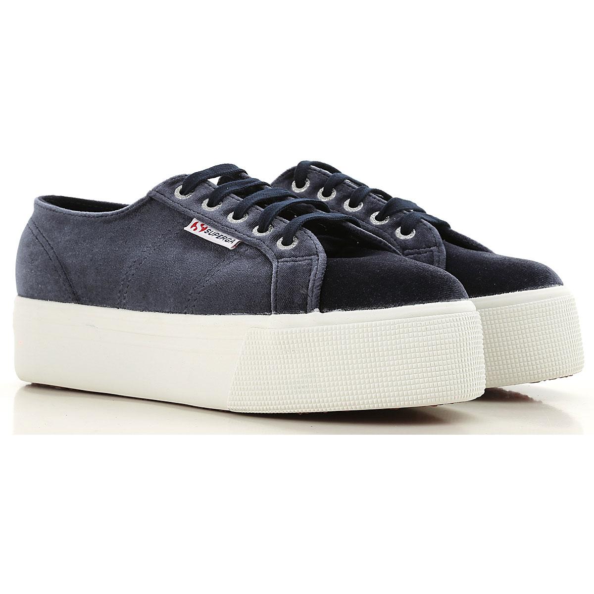 Superga Sneakers for Women On Sale, Grey, Velvet, 2019, ITA 39 - USA 8.5 - UK 6 ITA 41 - USA 10.5 - UK 8