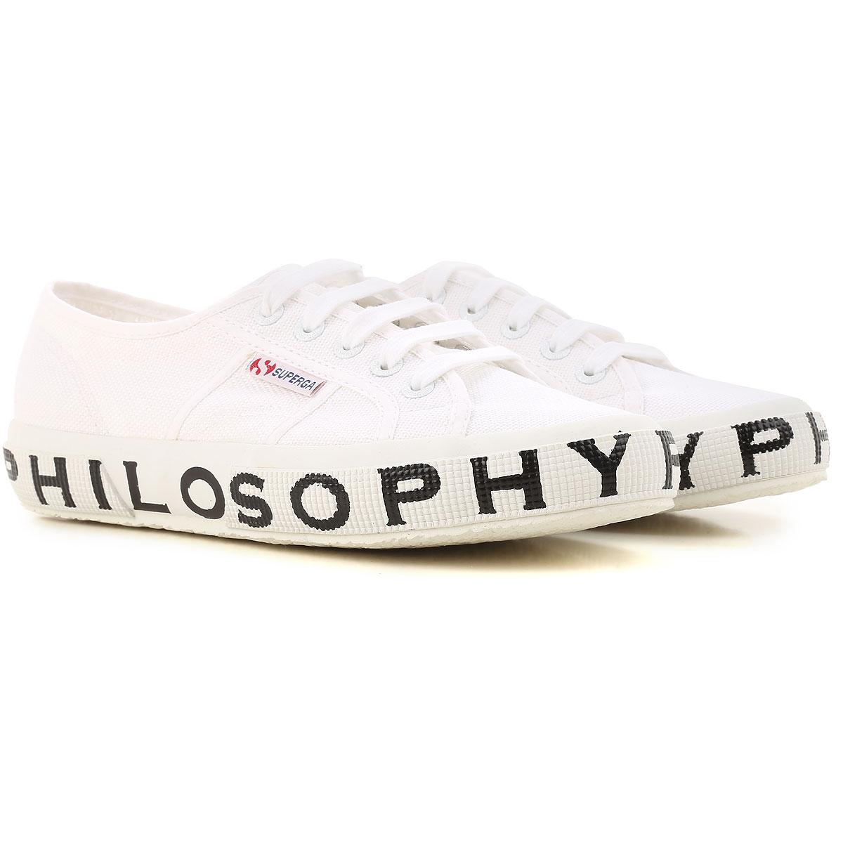 Image of Superga Sneakers for Women, Philosophy, White, Canvas, 2017, ITA 38 - USA 7.5 - UK 5 ITA 39 - USA 8.5 - UK 6 ITA 35 - USA 4.5 - UK 2 ITA 36 - USA 5.5 - UK 3 ITA 37 - USA 6.5 - UK 4