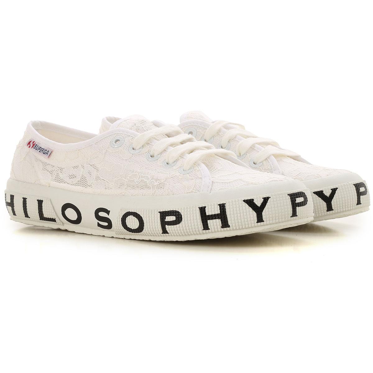 Image of Superga Sneakers for Women, Superga X Philosophy, White, Lace, 2017, ITA 38 - USA 7.5 - UK 5 ITA 39 - USA 8.5 - UK 6 ITA 35 - USA 4.5 - UK 2 ITA 36 - USA 5.5 - UK 3 ITA 37 - USA 6.5 - UK 4