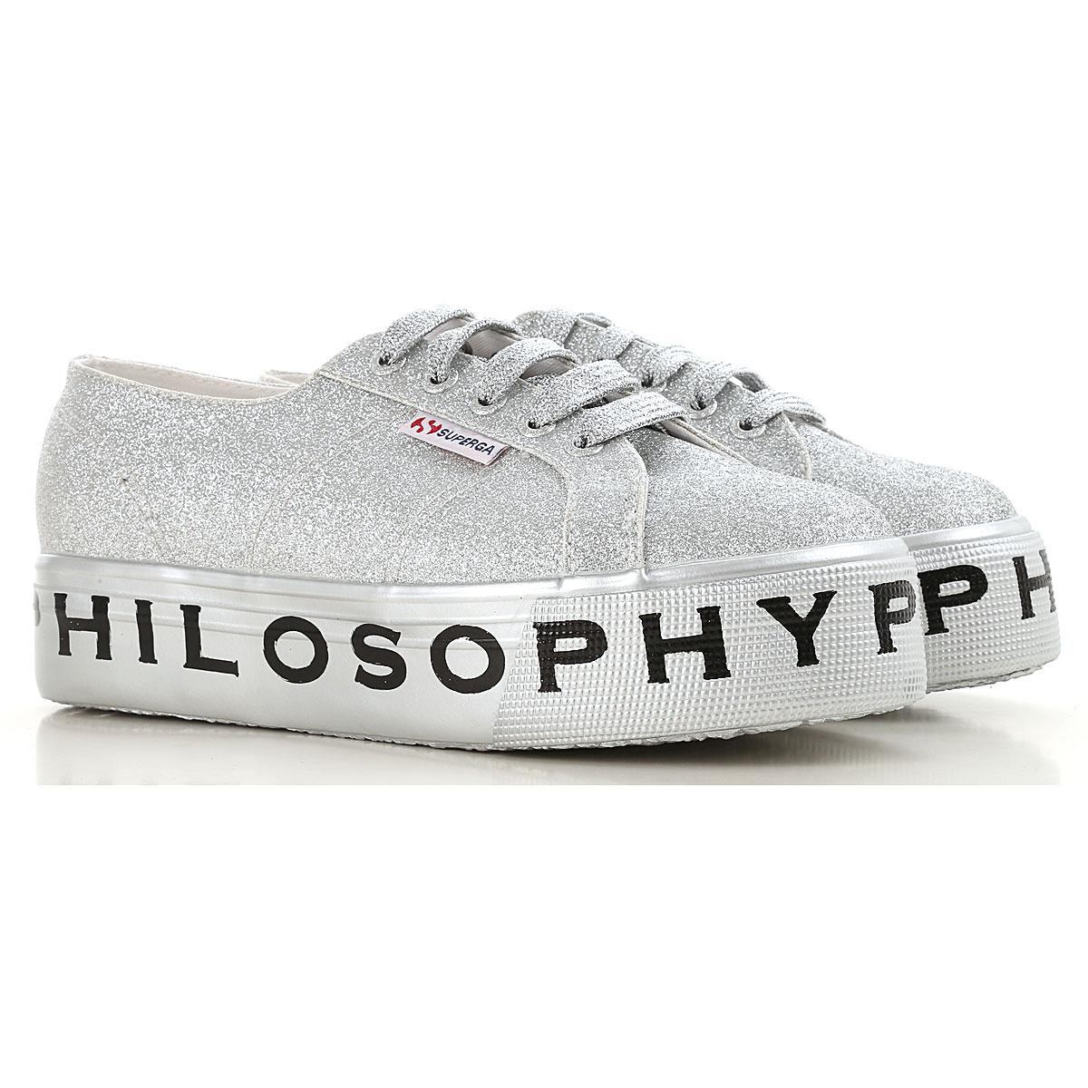 Image of Superga Sneakers for Women, Superga X Philosophy, Silver, Glitter, 2017, ITA 38 - USA 7.5 - UK 5 ITA 39 - USA 8.5 - UK 6 ITA 35 - USA 4.5 - UK 2 ITA 36 - USA 5.5 - UK 3 ITA 37 - USA 6.5 - UK 4