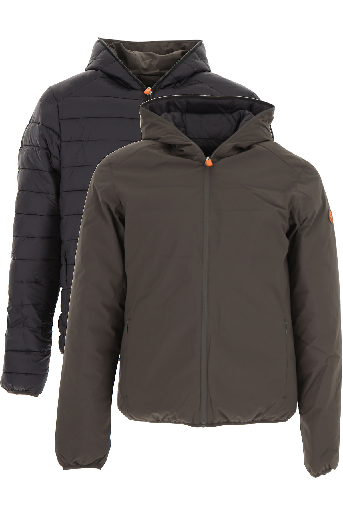 Save the Duck Down Jacket for Men, Puffer Ski Jacket On Sale, Dark Grey, poliammide, 2017, M XXL USA-426018