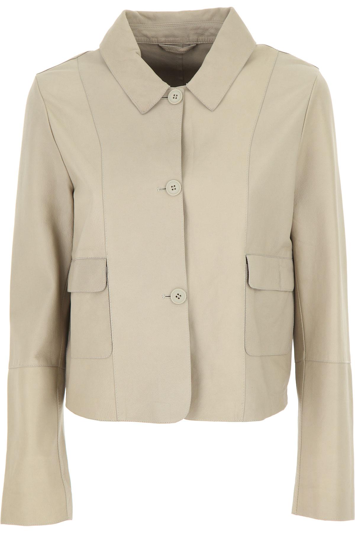S.W.O.R.D Leather Jacket for Women On Sale, Chalk, Leather, 2019, FR 42 - IT 46 FR 44 - IT 48