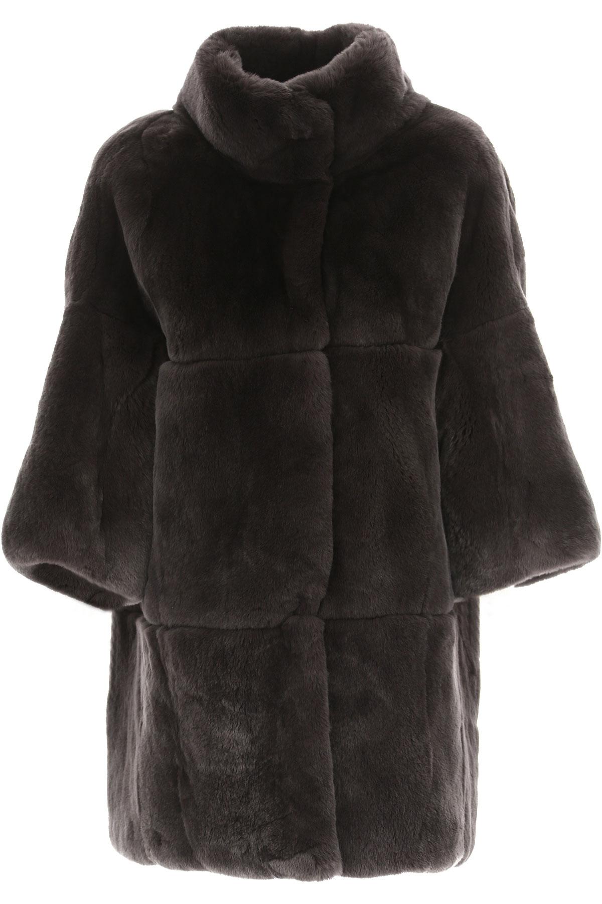 Image of S.W.O.R.D Women\'s Coat, Black, Fur, 2017, FR 34 • IT 38 FR 36 • IT 40 FR 38 • IT 42 FR 40 • IT 44