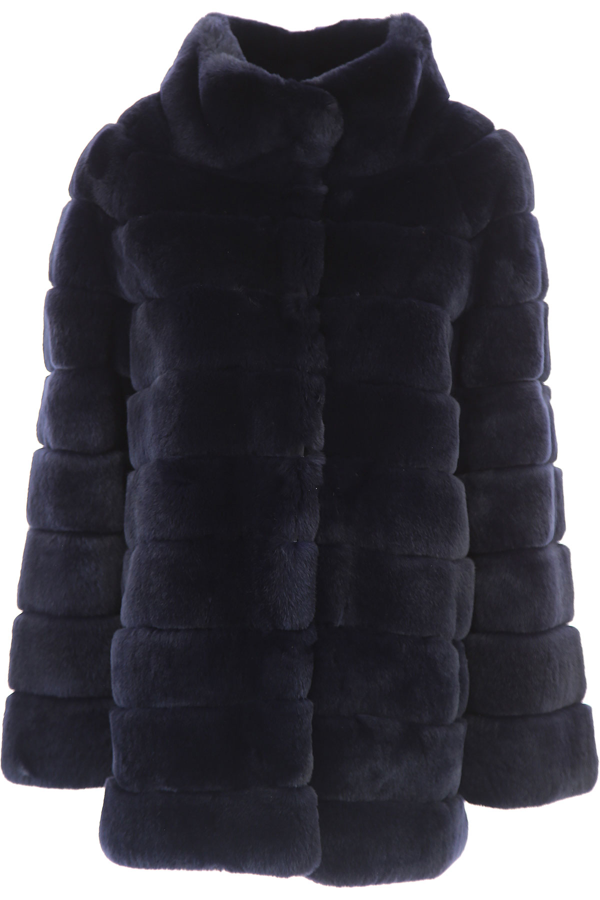Image of S.W.O.R.D Jacket for Women, Dark Midnight Blue, Fur, 2017, FR 36 • IT 40 FR 38 • IT 42 FR 40 • IT 44