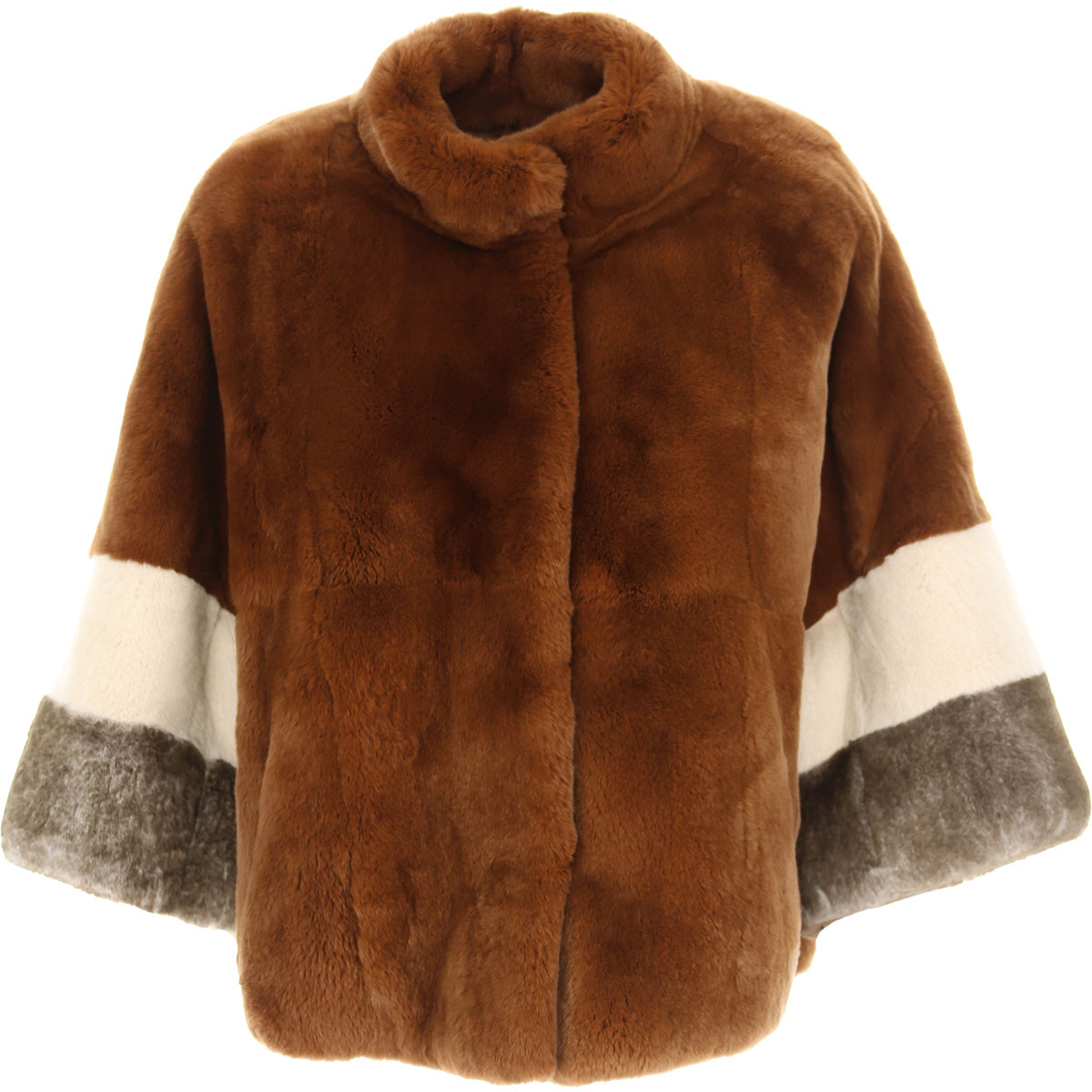 S.W.O.R.D Jacket for Women On Sale, Camel, Fur, 2019, 8