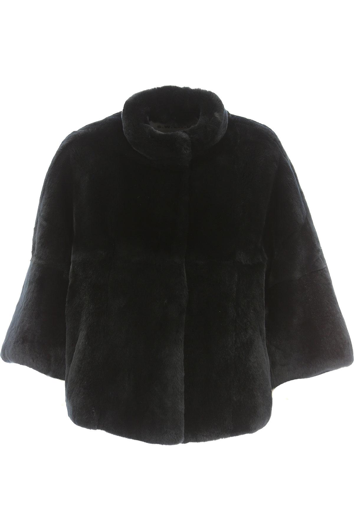 S.W.O.R.D Jacket for Women On Sale, Black, Fur, 2019, 8