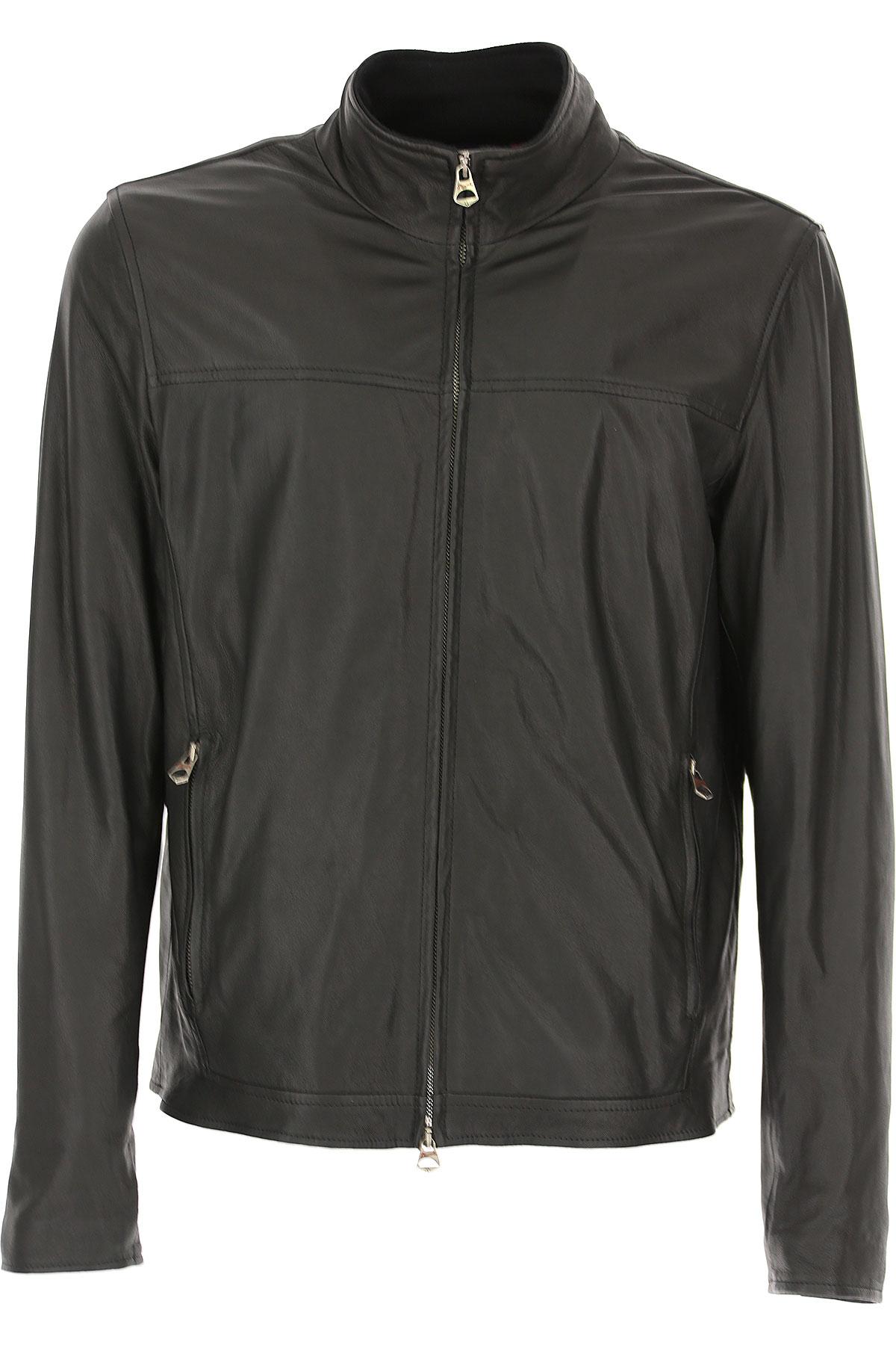 Stewart Leather Jacket for Men On Sale, Black, Leather, 2019, L M XXL