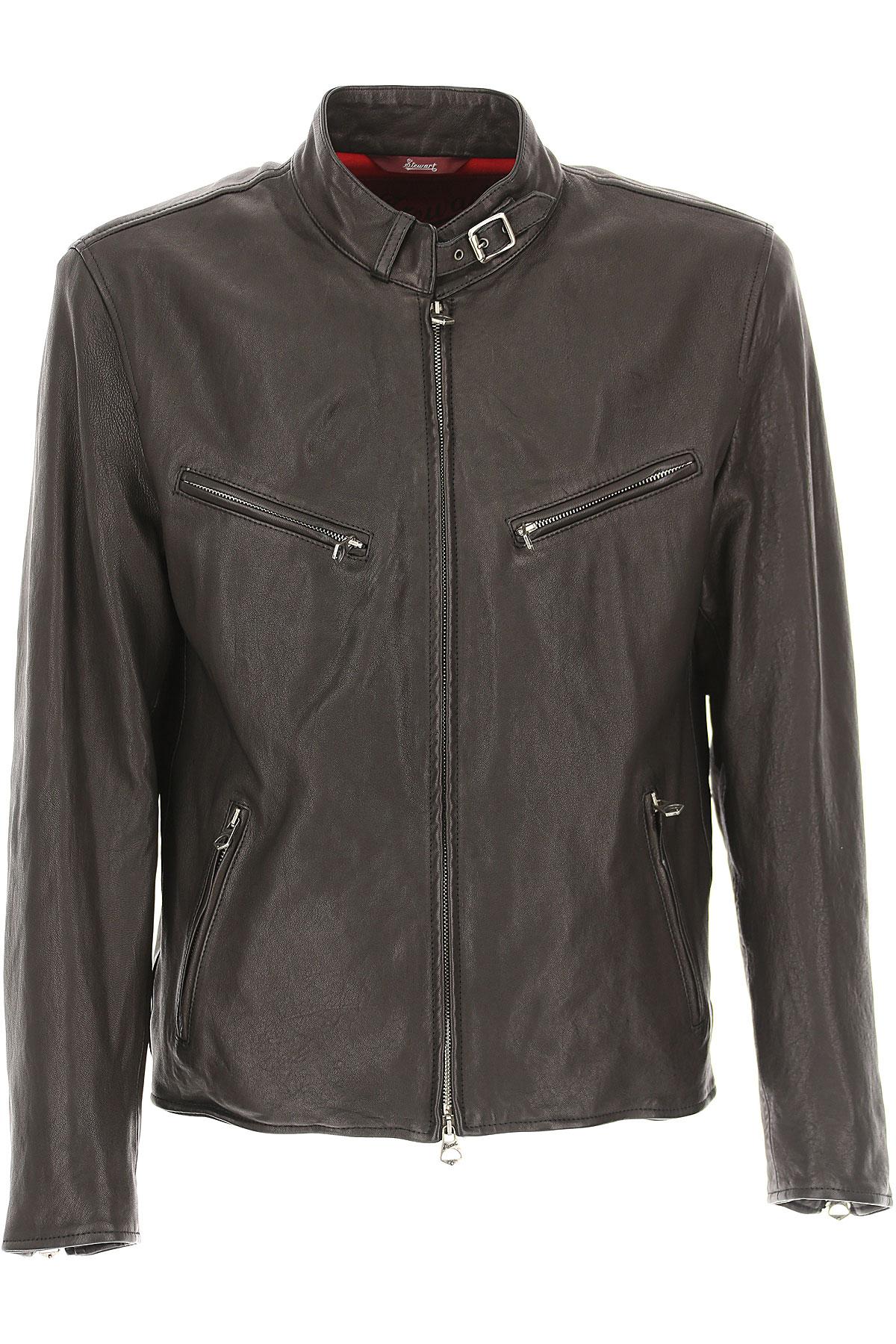 Image of Stewart Leather Jacket for Men, Dark Brown, Leather, 2017, L XL XXL