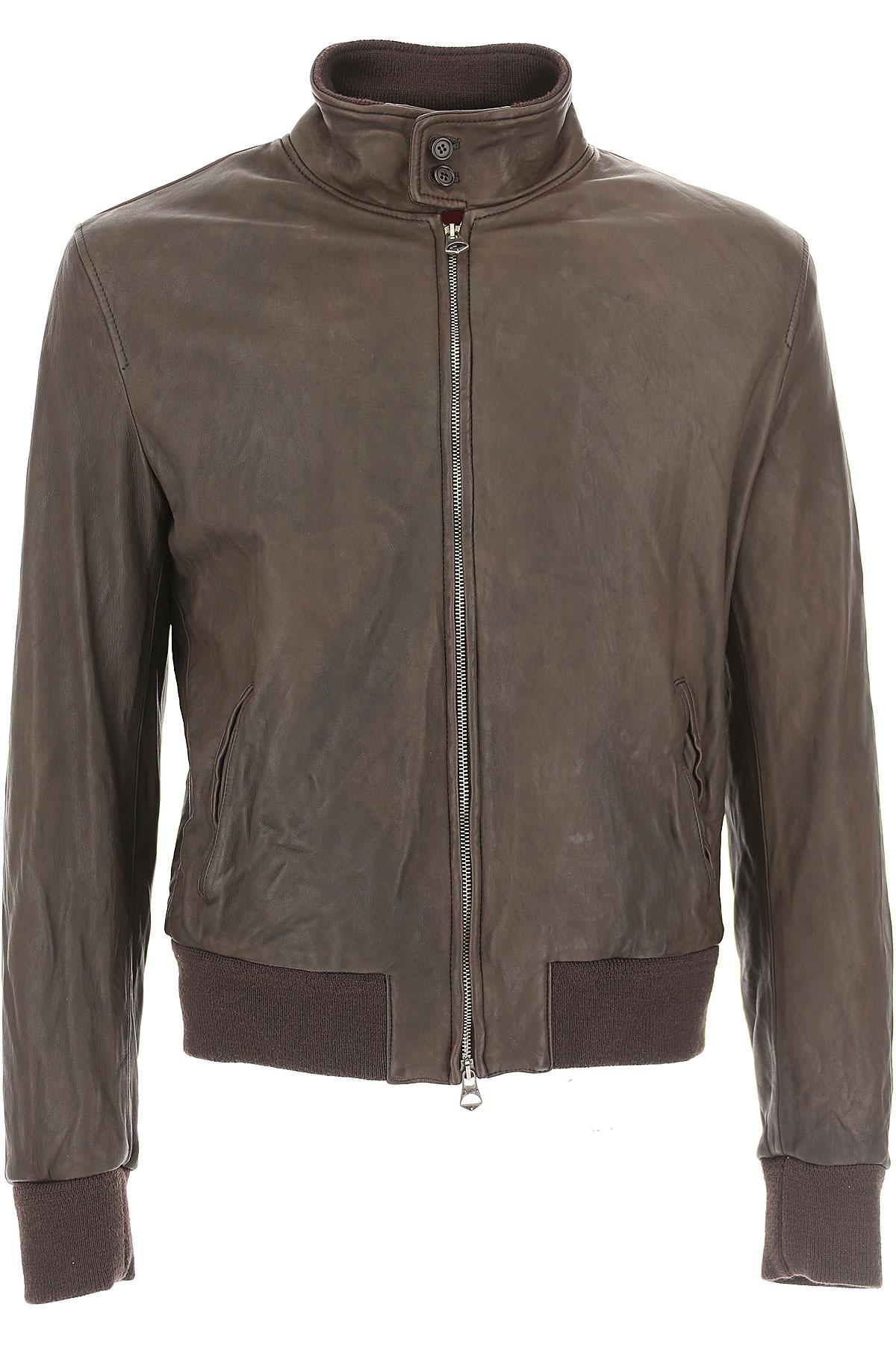 Image of Stewart Leather Jacket for Men, Dark Brown, Leather, 2017, L M XL XXL