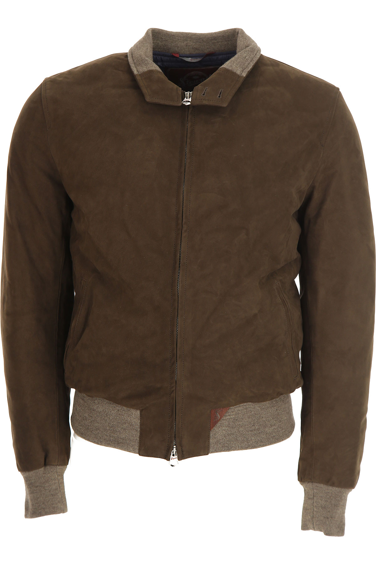 Image of Stewart Leather Jacket for Men, Nuvola, Mud Brown, suede, 2017, L M XL XXL