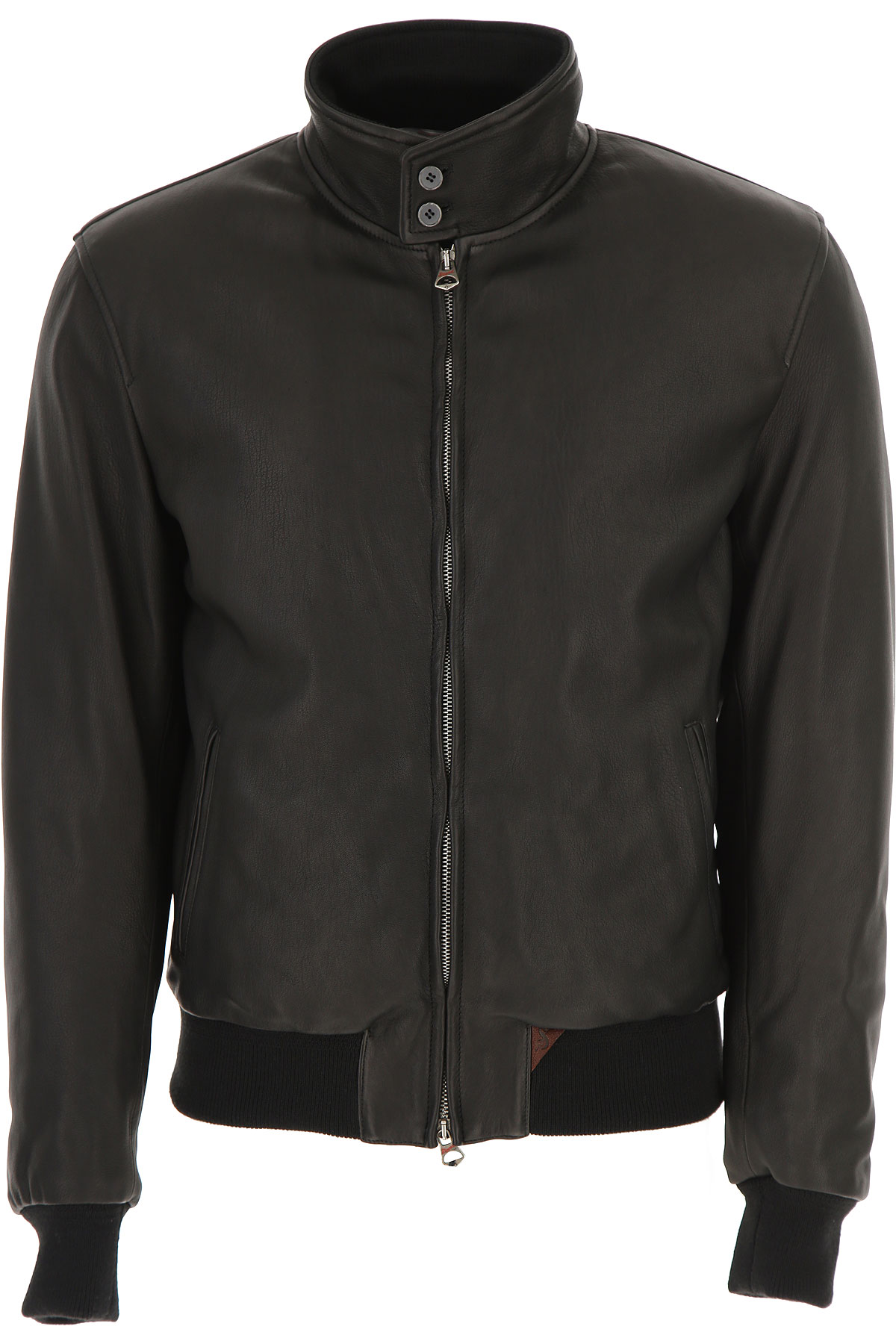 Image of Stewart Leather Jacket for Men, Black, Lamb Leather, 2017, XL XXL