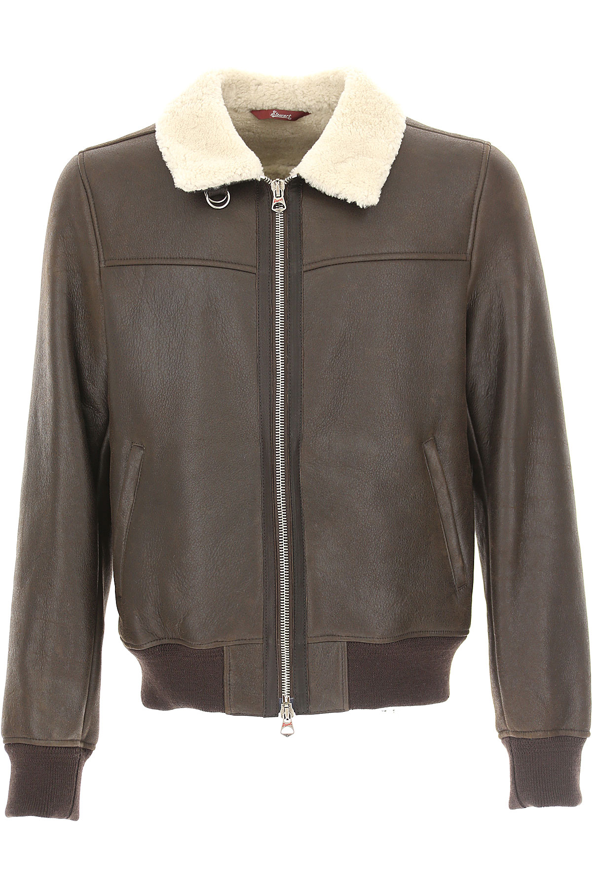 Image of Stewart Leather Jacket for Men, Anthracite, Leather, 2017, L M