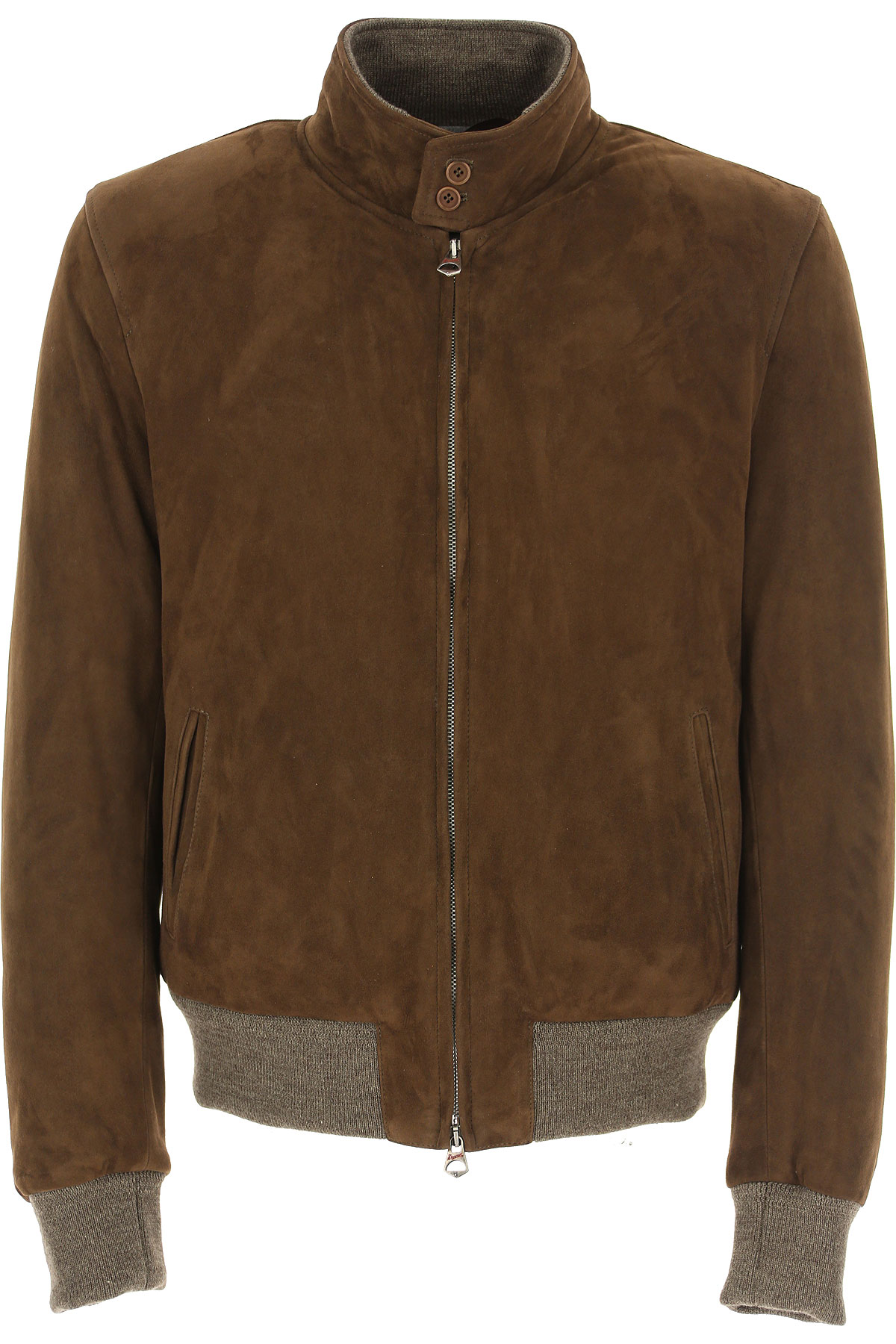 Stewart Leather Jacket for Men On Sale, Mud, Suede leather, 2019, L XXL