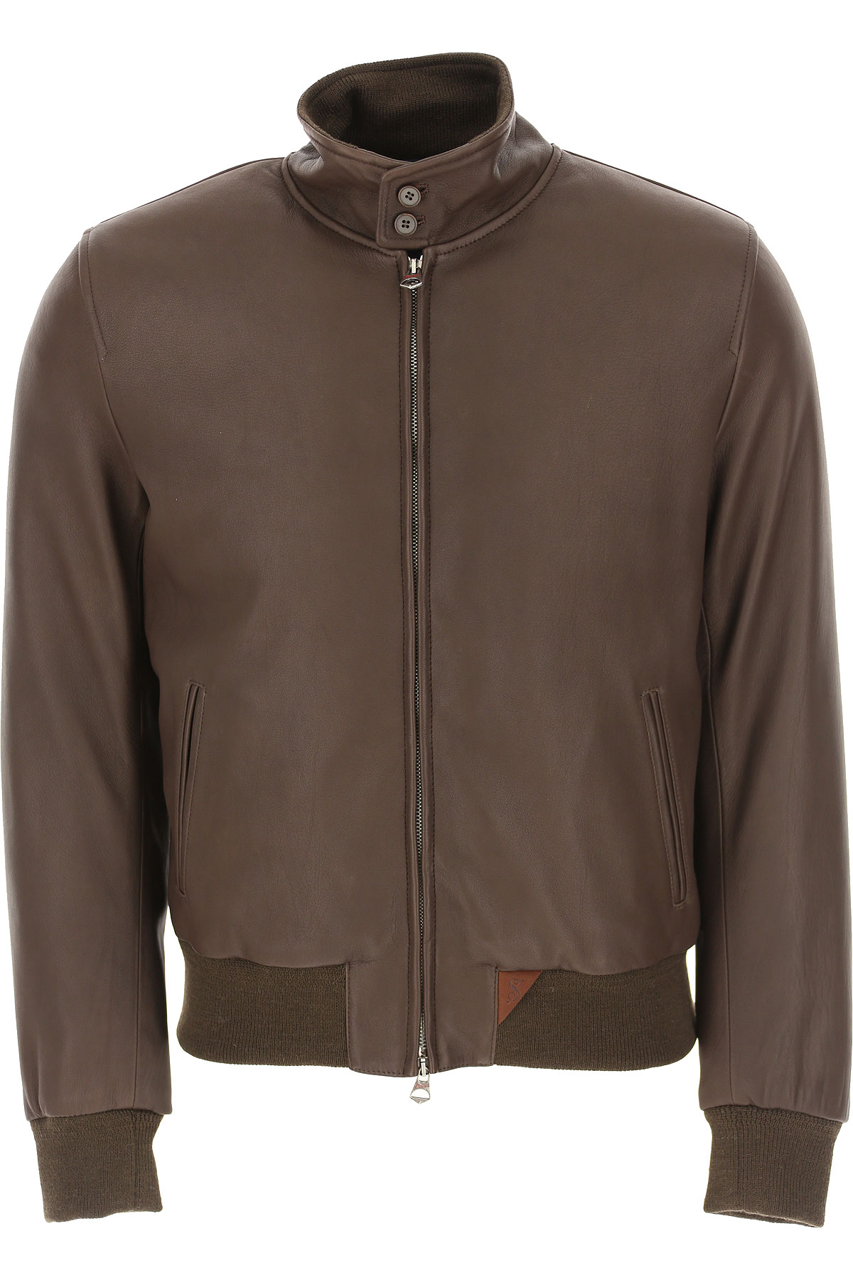 Stewart Leather Jacket for Men On Sale, Brown, Leather, 2019, L S XL XXL