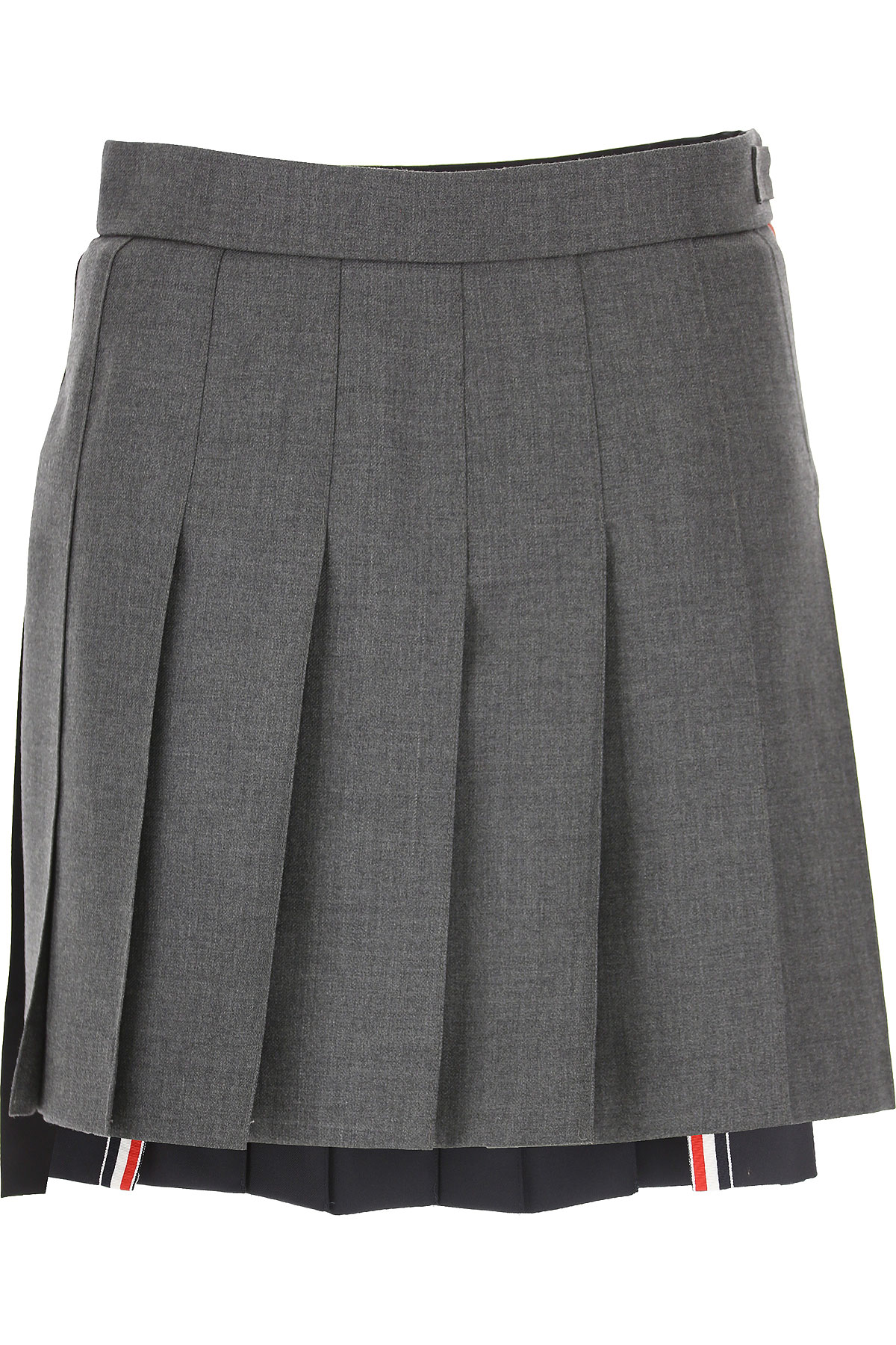 Image of THOM BROWNE Skirt for Women, Grey, Wool, 2017, 26 28