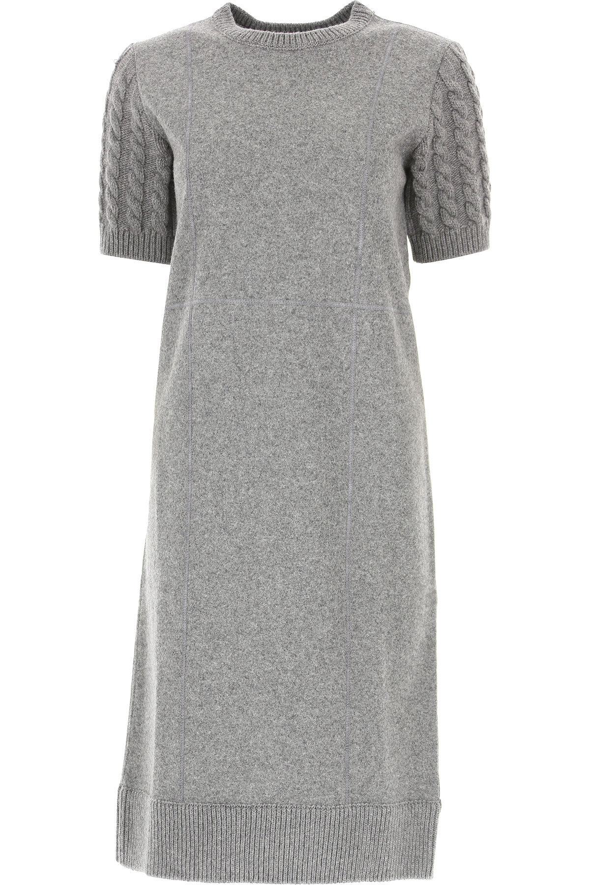 Image of THOM BROWNE Dress for Women, Evening Cocktail Party, Medium Grey, Wool, 2017, 4 6 8