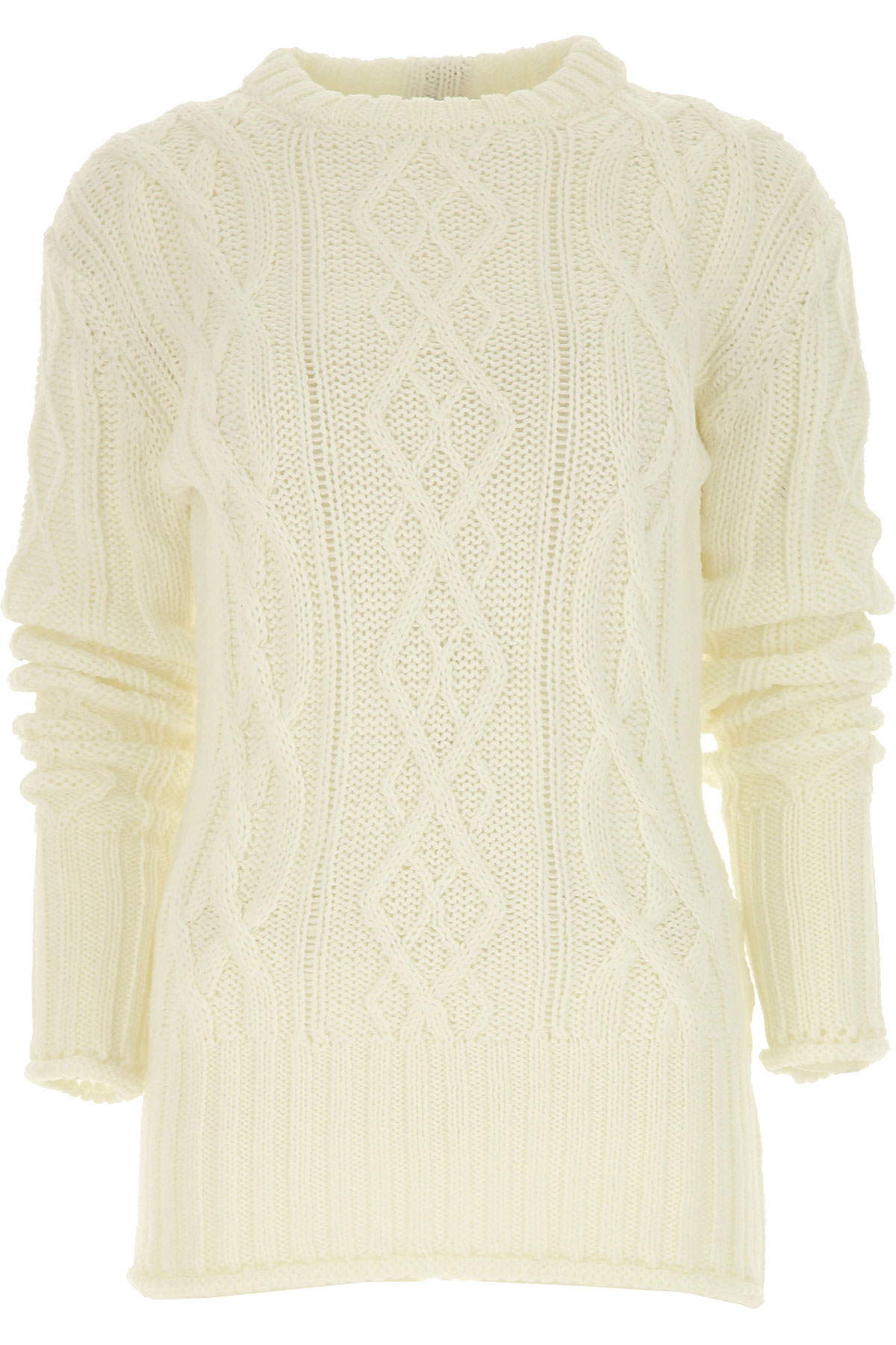 THOM BROWNE Sweater for Women Jumper On Sale, White, Wool, 2019, 4 6
