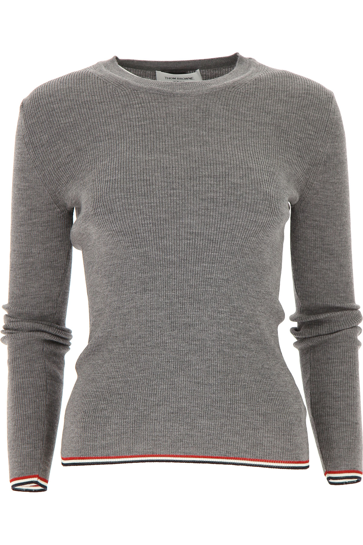 THOM BROWNE Sweater for Women Jumper On Sale, Grey, Wool, 2019, 6 8