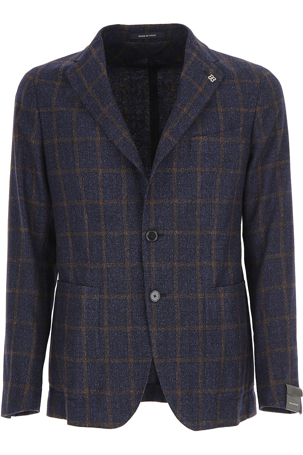 Image of Tagliatore Blazer for Men, Sport Coat, Blue, Wool, 2017, L M S XL XXL