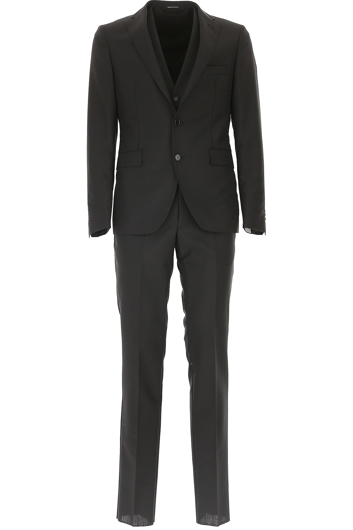 Tagliatore Men's Suit On Sale in Outlet, Black, Virgin wool, 2019, L XL