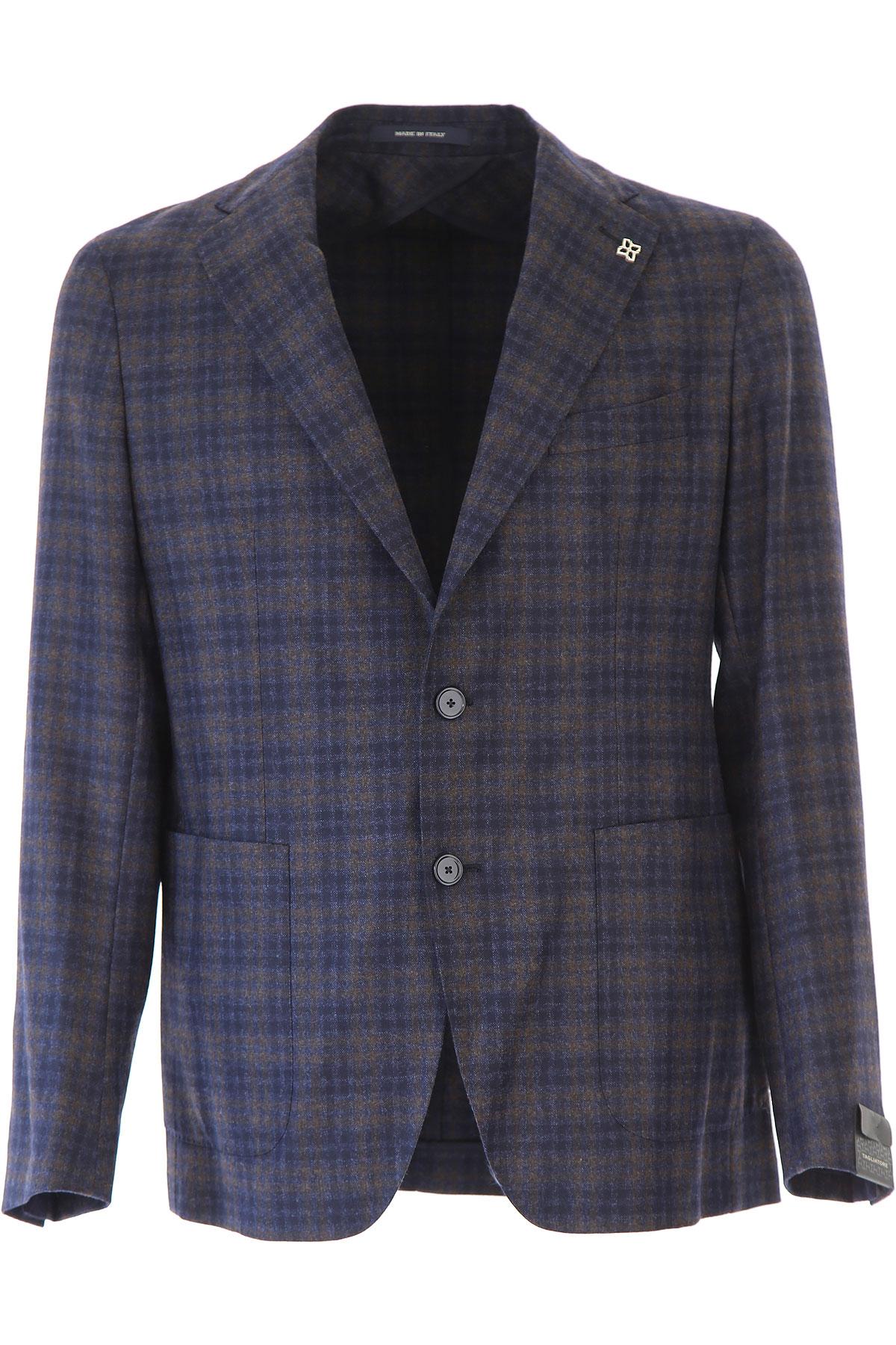 Image of Tagliatore Blazer for Men, Sport Coat, Blue, Virgin wool, 2017, L XL XXL