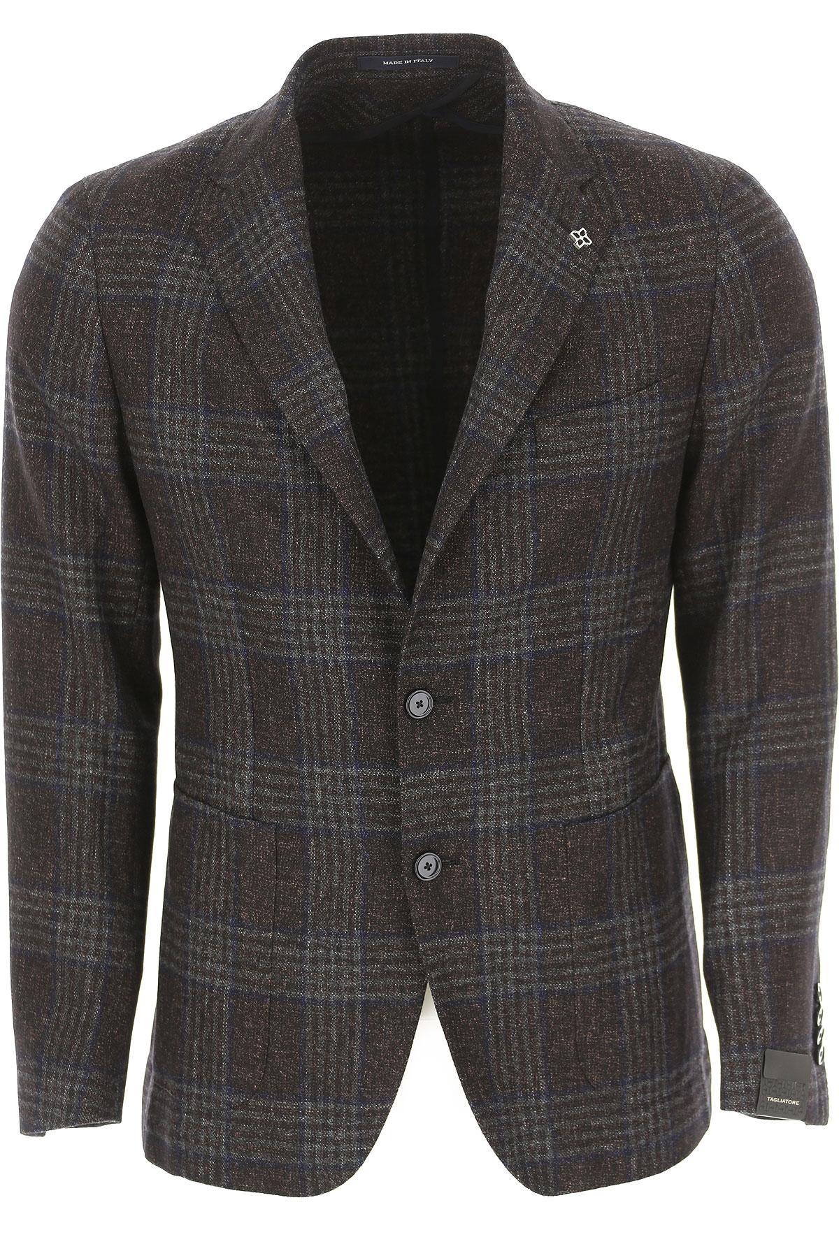 Image of Tagliatore Blazer for Men, Sport Coat, Brown, Virgin wool, 2017, L M S XL