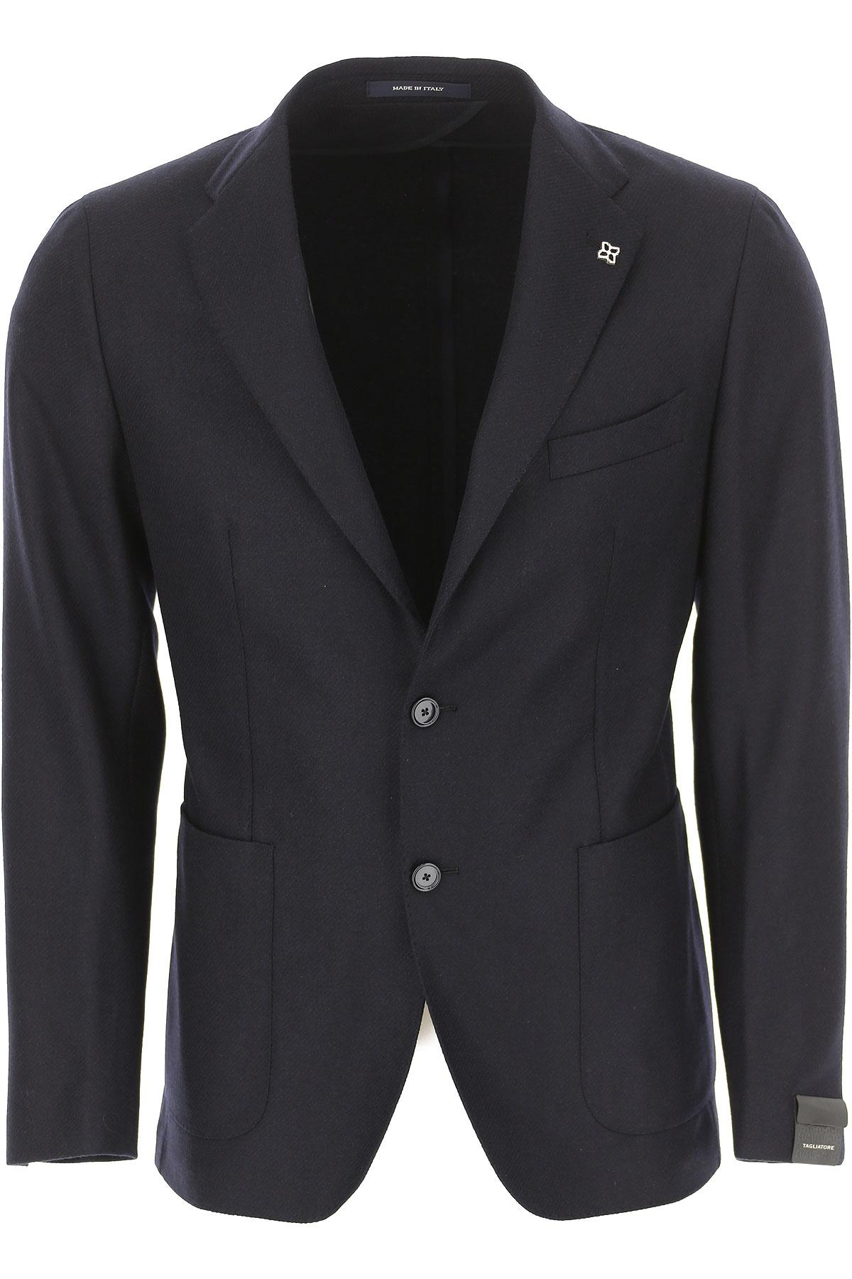 Image of Tagliatore Blazer for Men, Sport Coat, Blue Ink, Virgin wool, 2017, L M XL