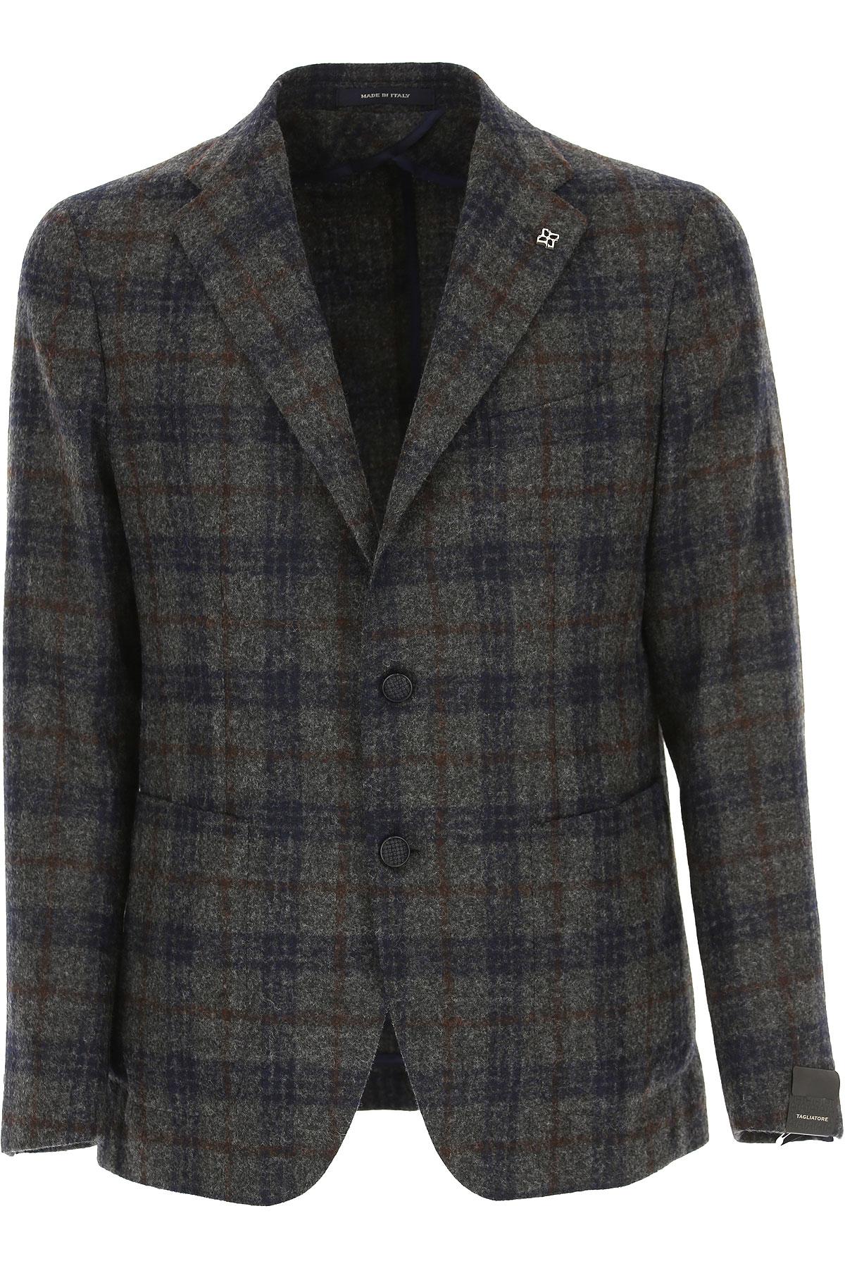Image of Tagliatore Blazer for Men, Sport Coat, Anthracite, Baby Wool, 2017, L M XL