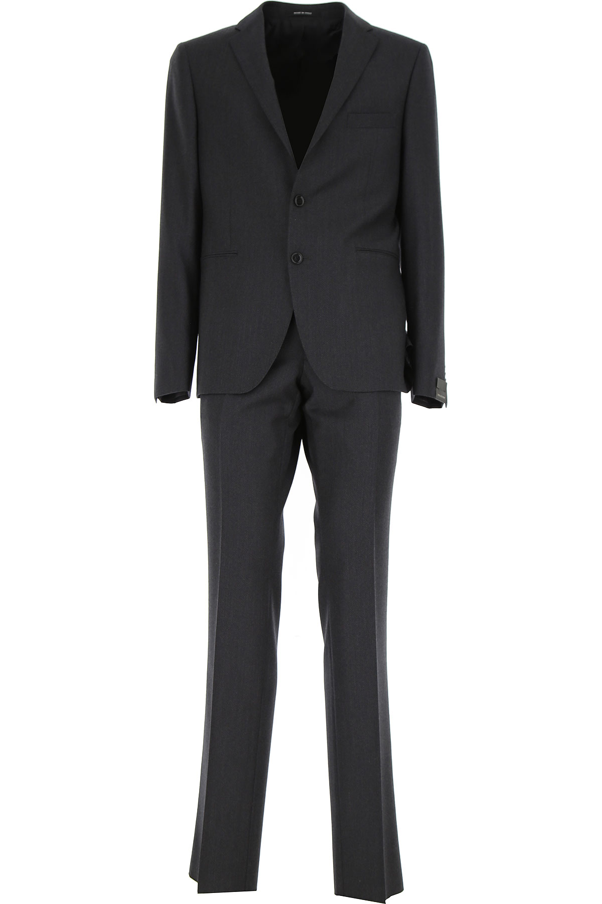 Tagliatore Men's Suit On Sale in Outlet, Dark Grey, Virgin wool, 2019, XL XXL