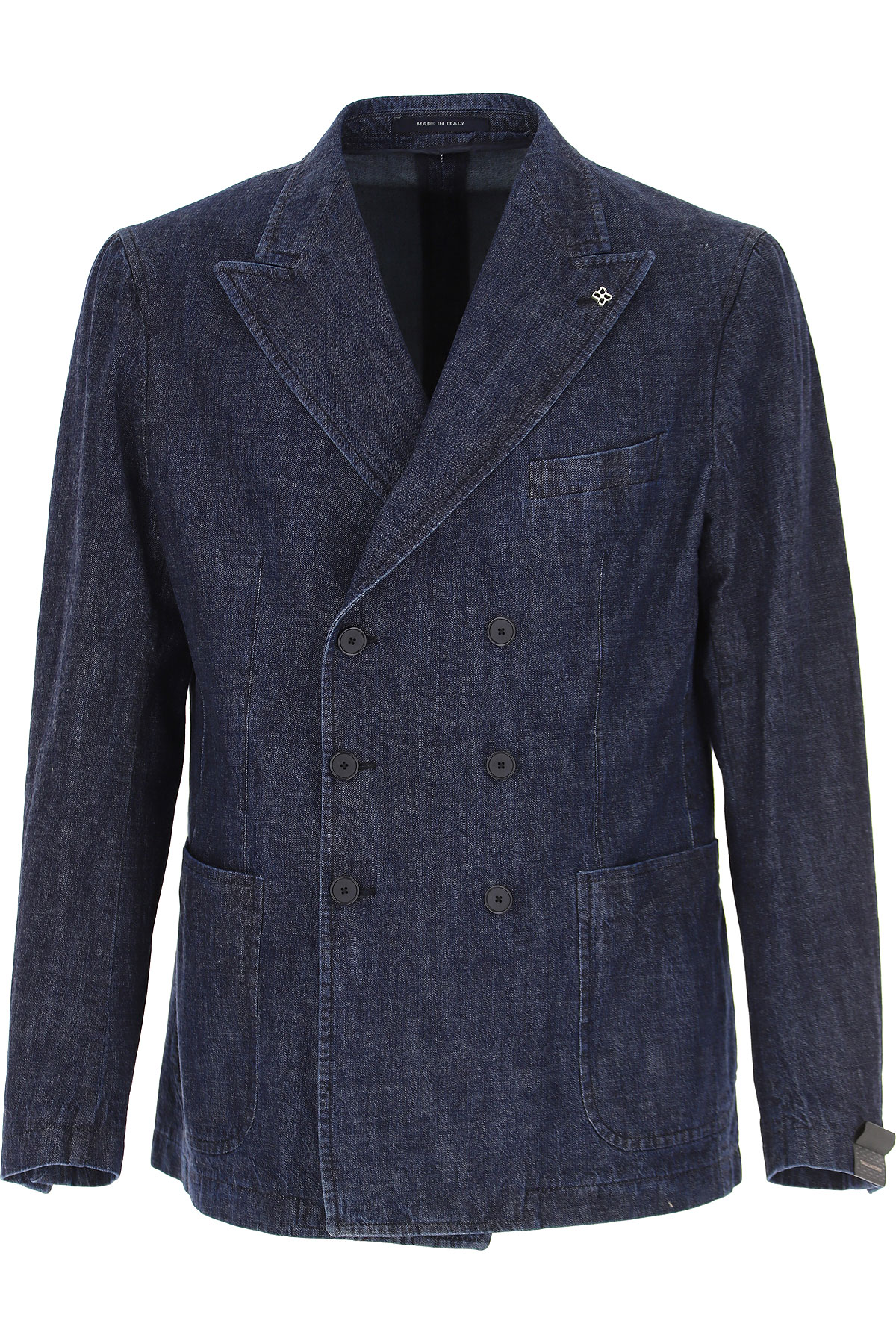 Tagliatore Blazer for Men, Sport Coat On Sale, Dark Denim Blue, Cotton, 2019, L M XL XXL