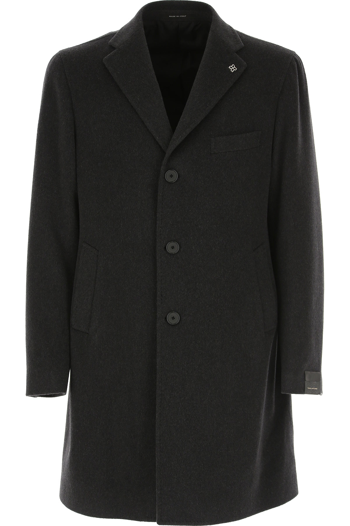 Tagliatore Men's Coat On Sale in Outlet, Dark Grey, Wool, 2019, L M XXL
