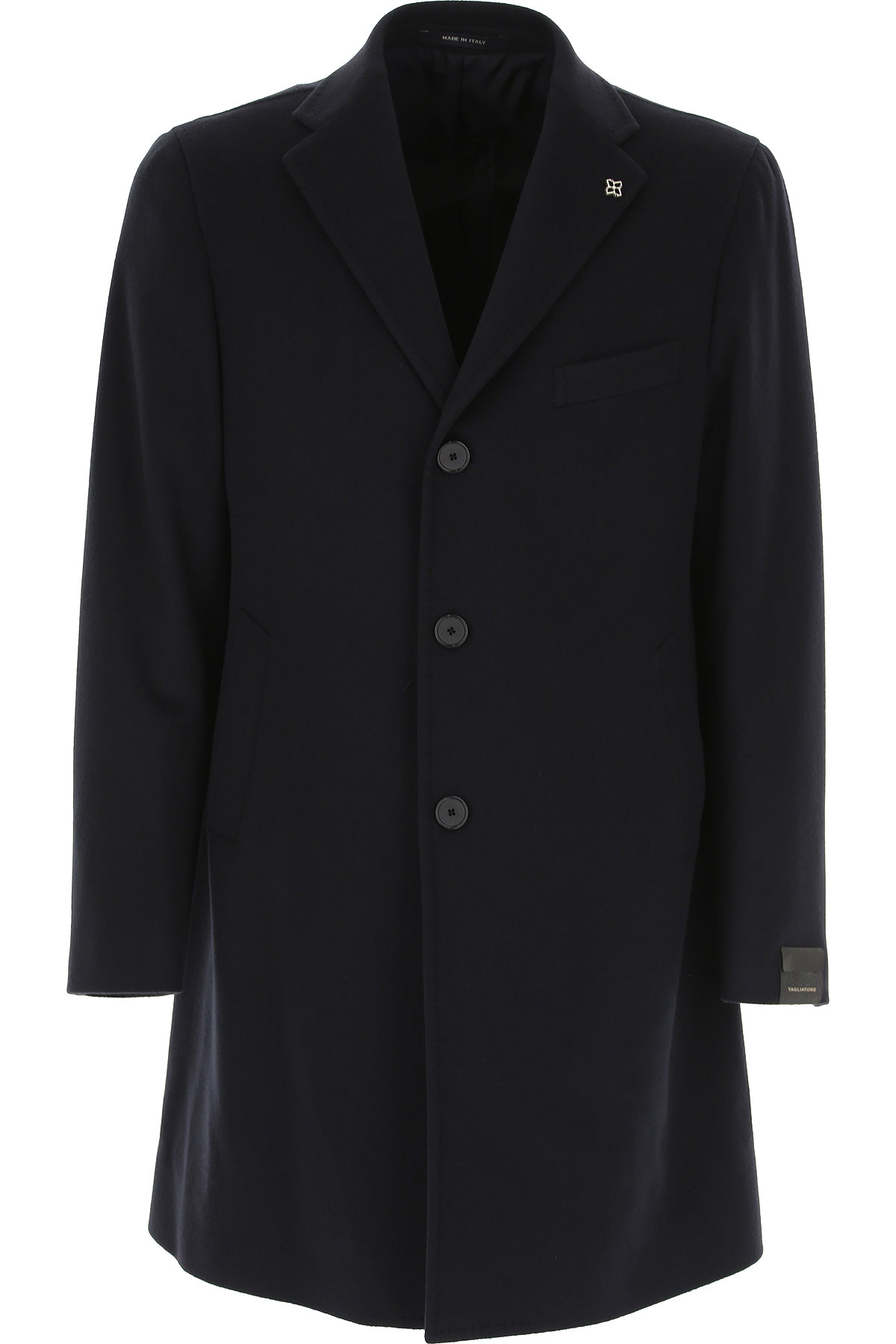 Tagliatore Men's Coat On Sale in Outlet, Navy Blue, Wool, 2019, XXL XXXL