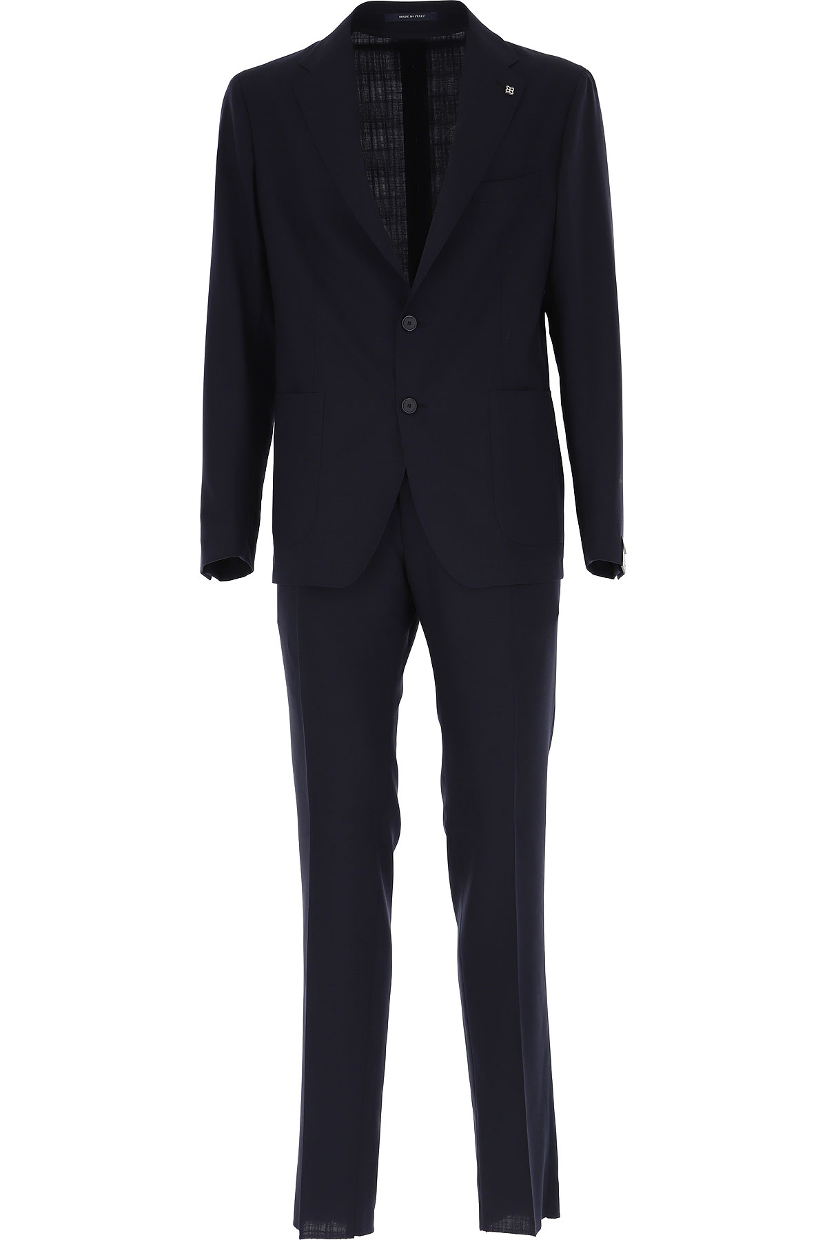 Tagliatore Men's Suit On Sale, Dark Navy Blue, Wool, 2019, L M S XL XXL