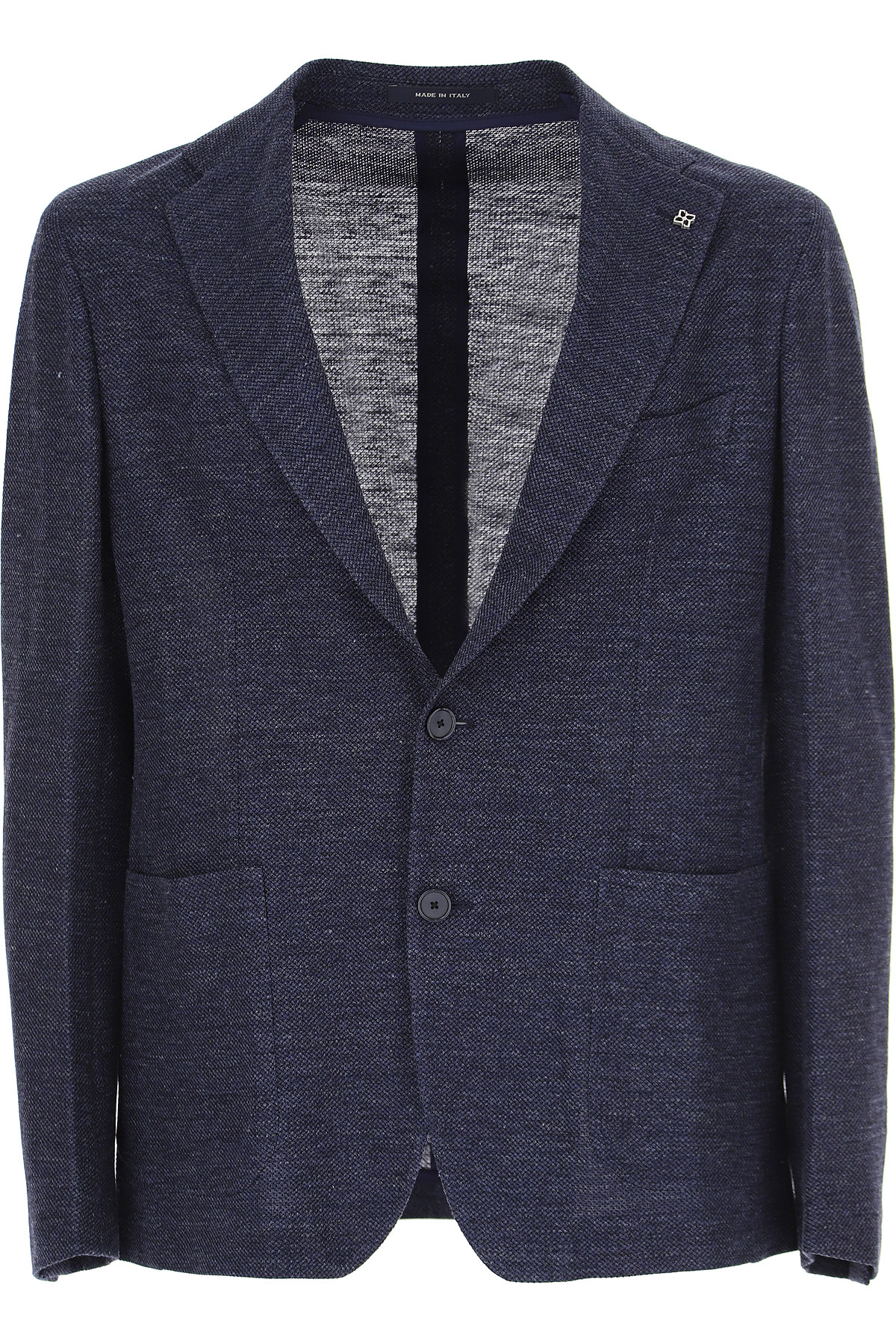 Tagliatore Blazer for Men, Sport Coat On Sale, Denim Blue, linen, 2019, L M S XL XXL