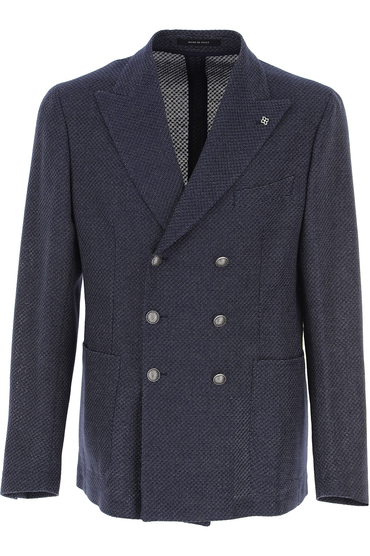 Tagliatore Blazer for Men, Sport Coat On Sale, Blue, Cotton, 2019, L M S XL XXL