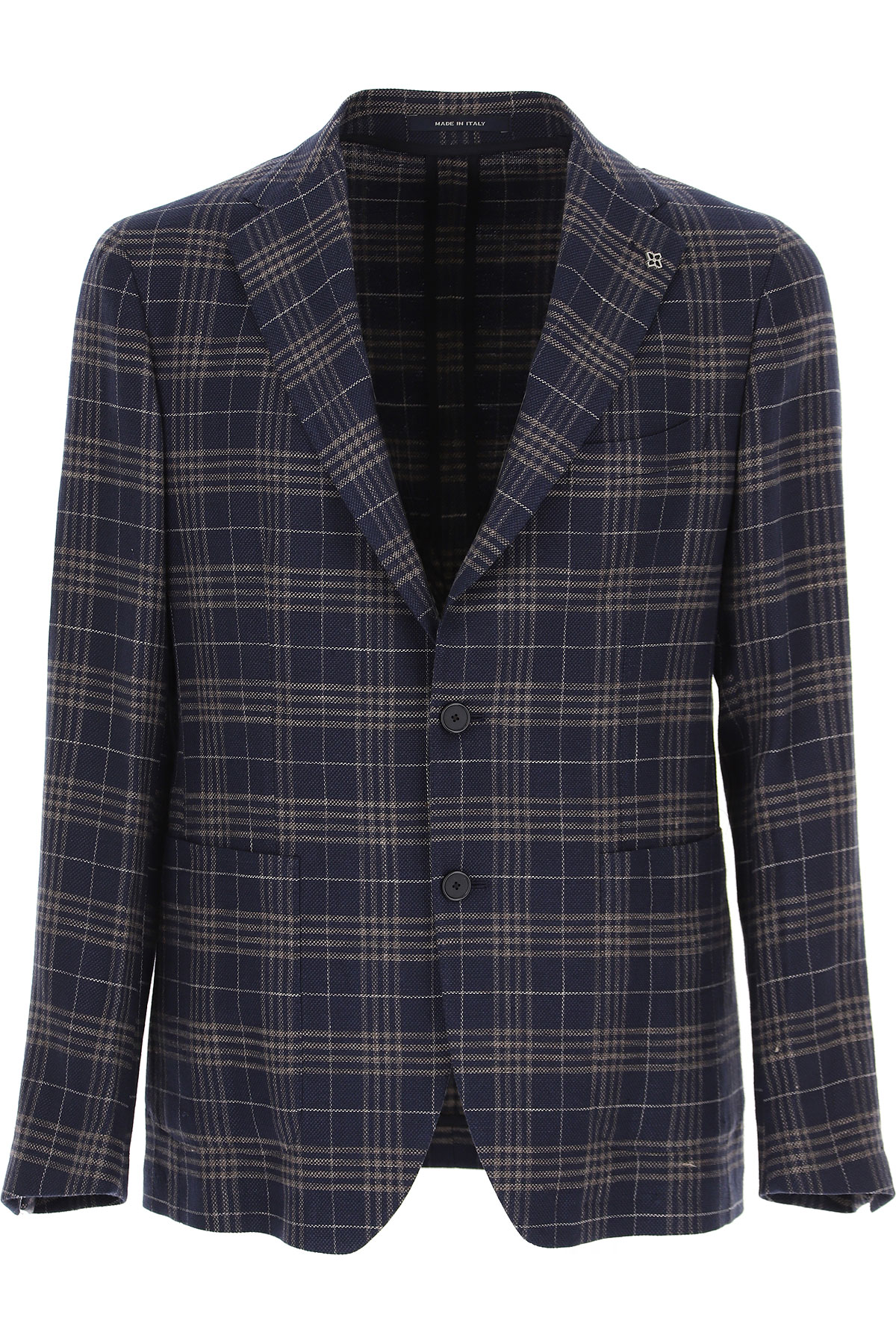Tagliatore Blazer for Men, Sport Coat On Sale, Navy Blue, 2019, L M XL