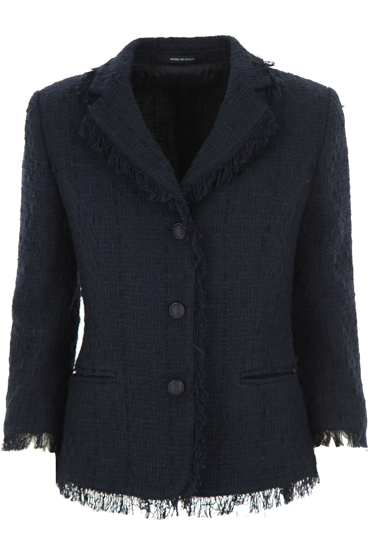 Tagliatore Blazer for Women On Sale, Navy Blue, cupro, 2019, 10 6