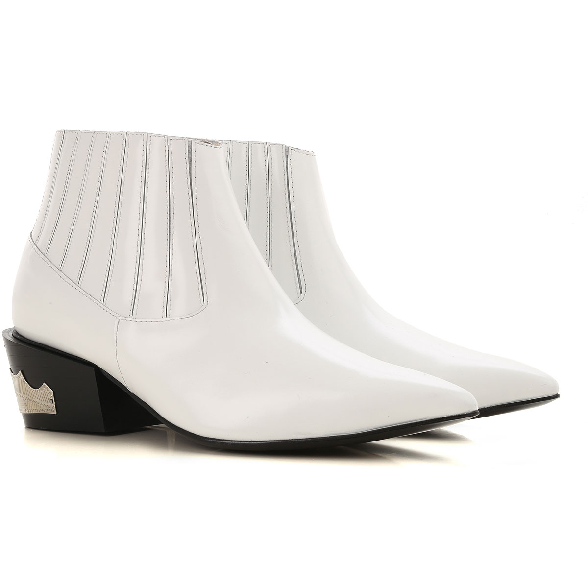 Image of Toga Pulla Boots for Women, Booties, White, Leather, 2017, 10 11 6.5 7 8 8.5 9
