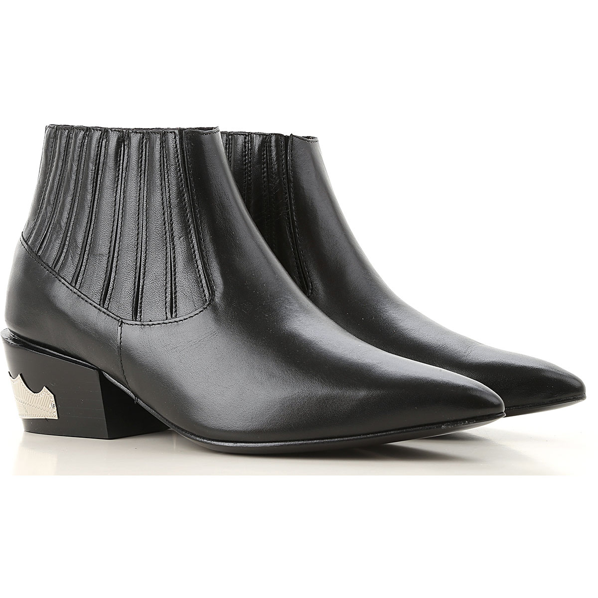 Image of Toga Pulla Boots for Women, Booties, Black, Leather, 2017, 10 11 6 7