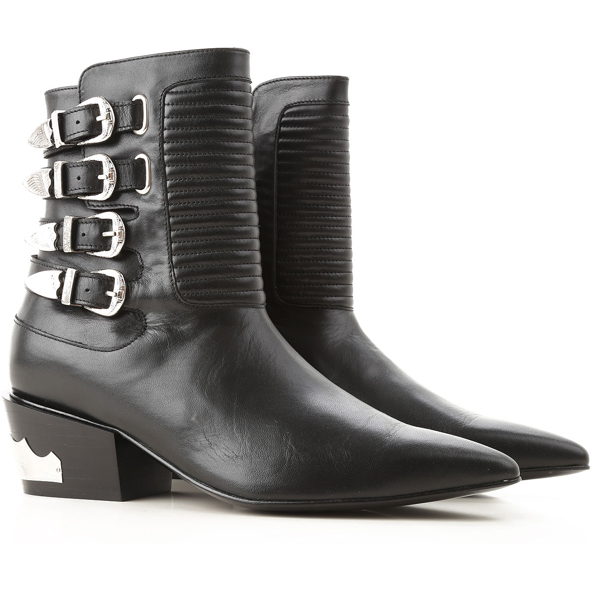 Image of Toga Pulla Boots for Women, Booties, Black, Leather, 2017, 11 6 7 8 9